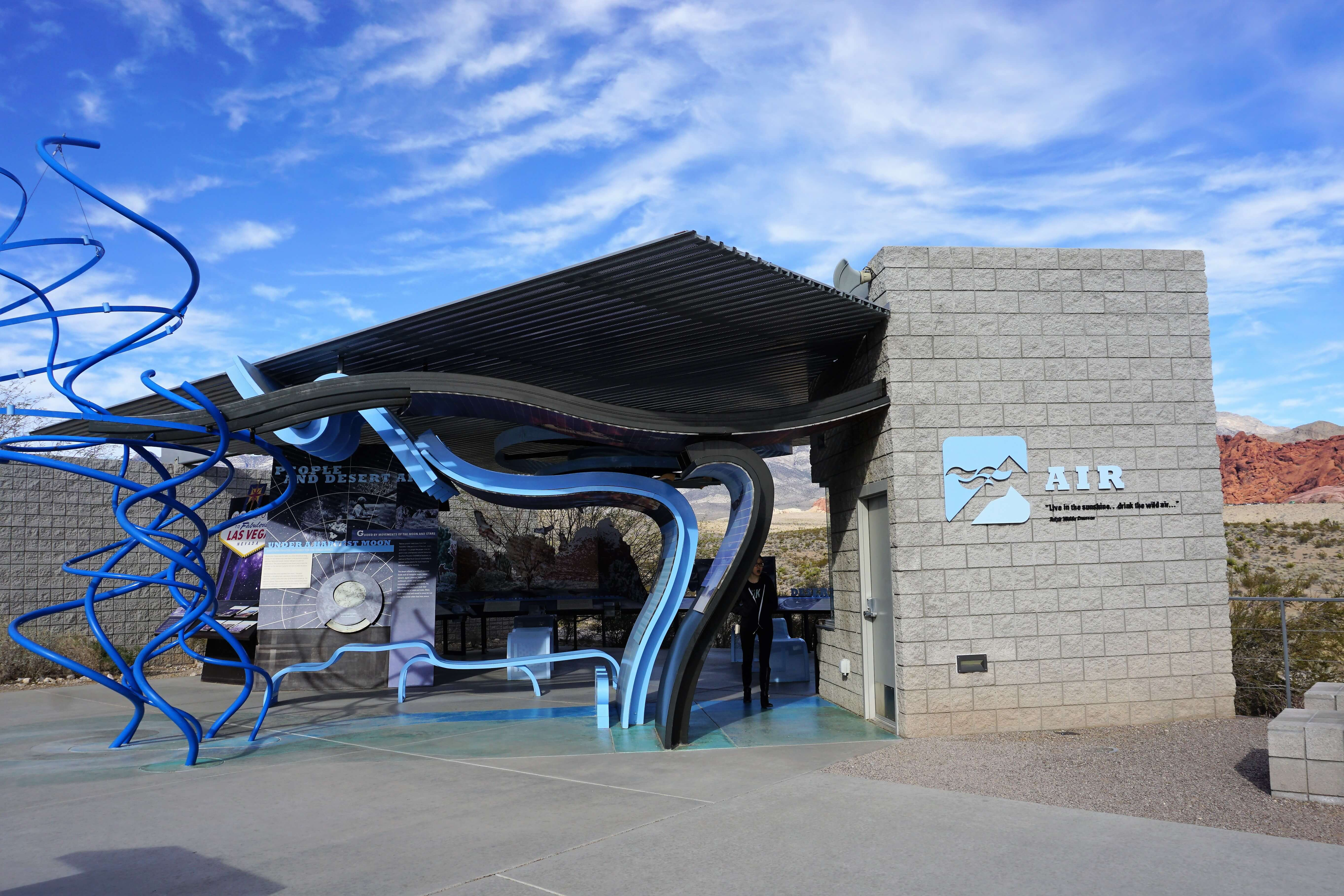 Outdoor exhibit at the Red Rock Canyon Visitor's Center