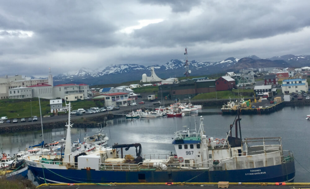 A photo of Stykkisholmur harbour on the Snaefellsness penninsula in Iceland