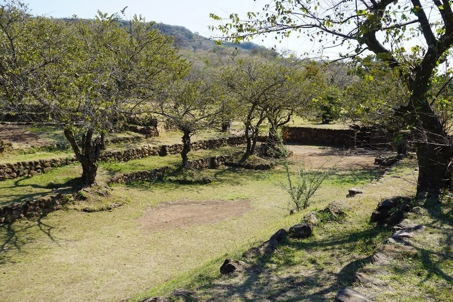This is a view of the ball court at the Guachimontones pyramid site.