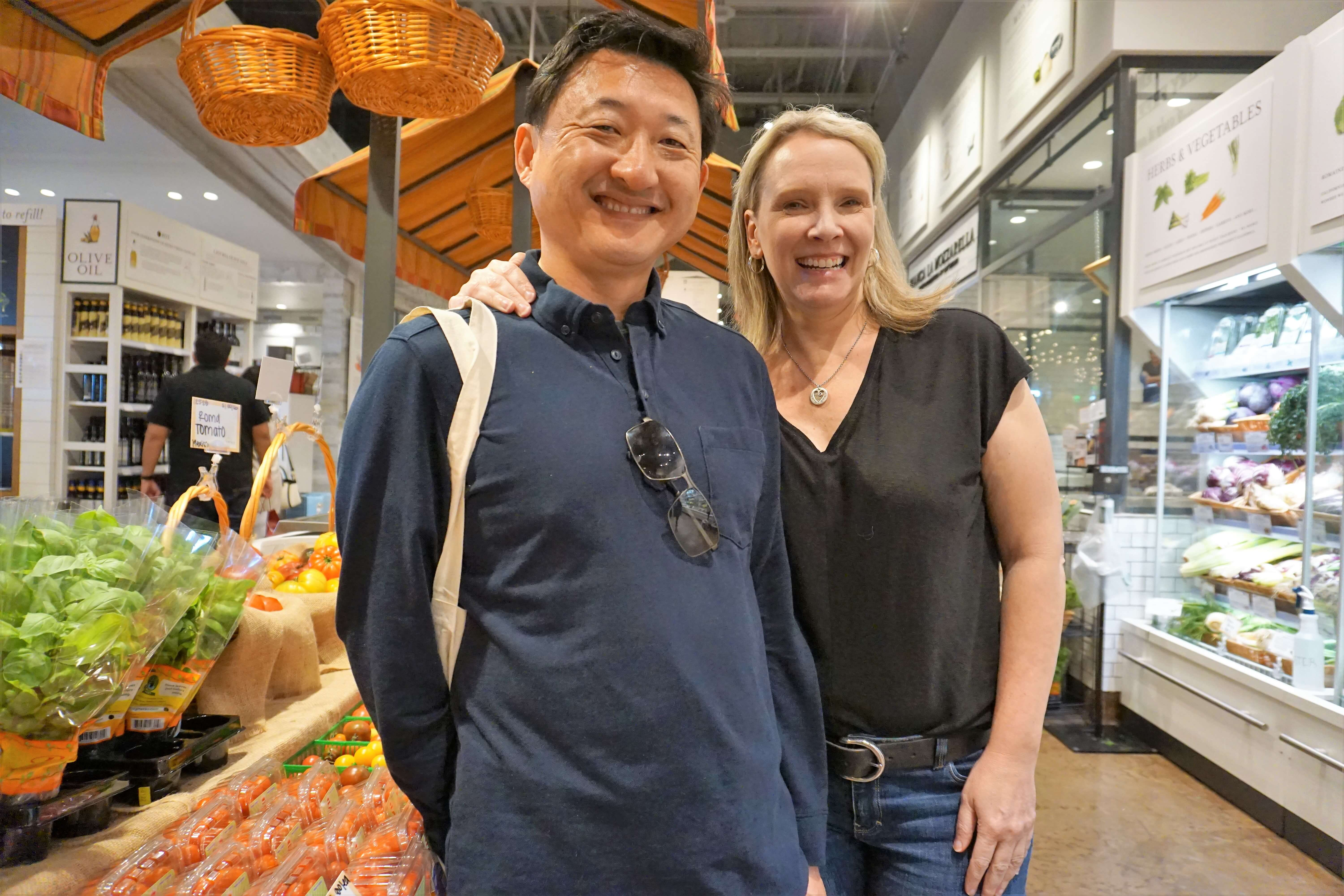 Jason and Wendy enjoying one of the Eataly tours at Eataly Los Angeles