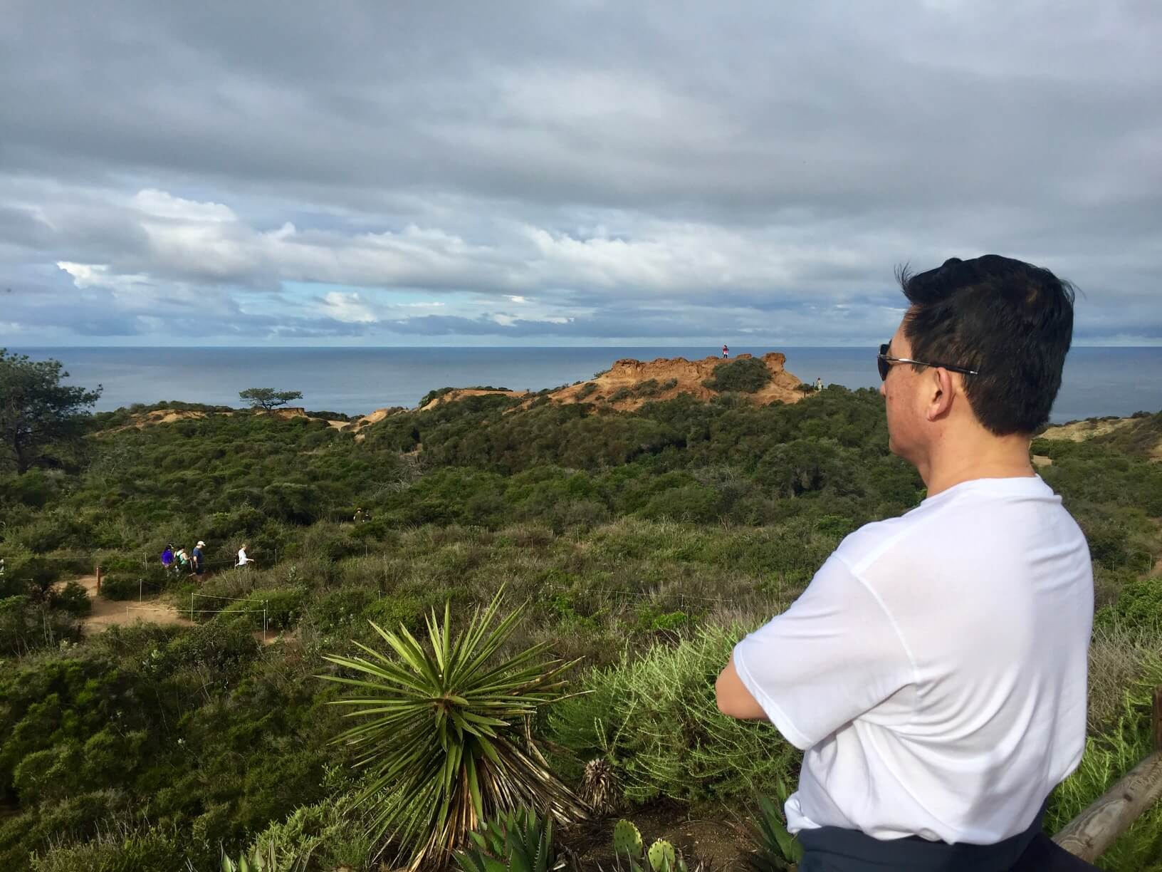 Business or Pleasure Travel--a photo of Jason overlooking Torrey Pines State Park in San Diego, California