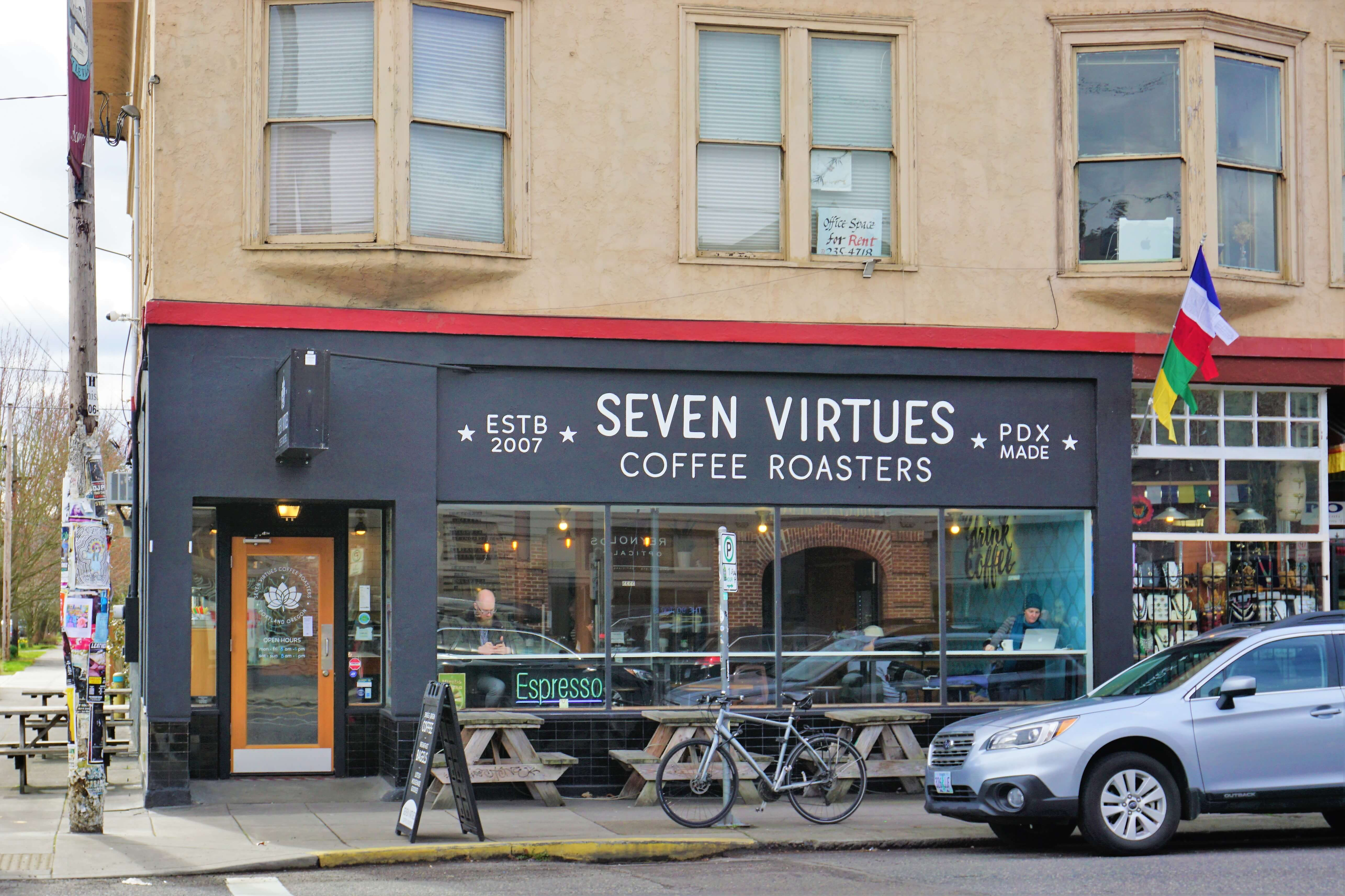 Seven Virtues Coffee in the Hawthorne Neighborhood in Portland