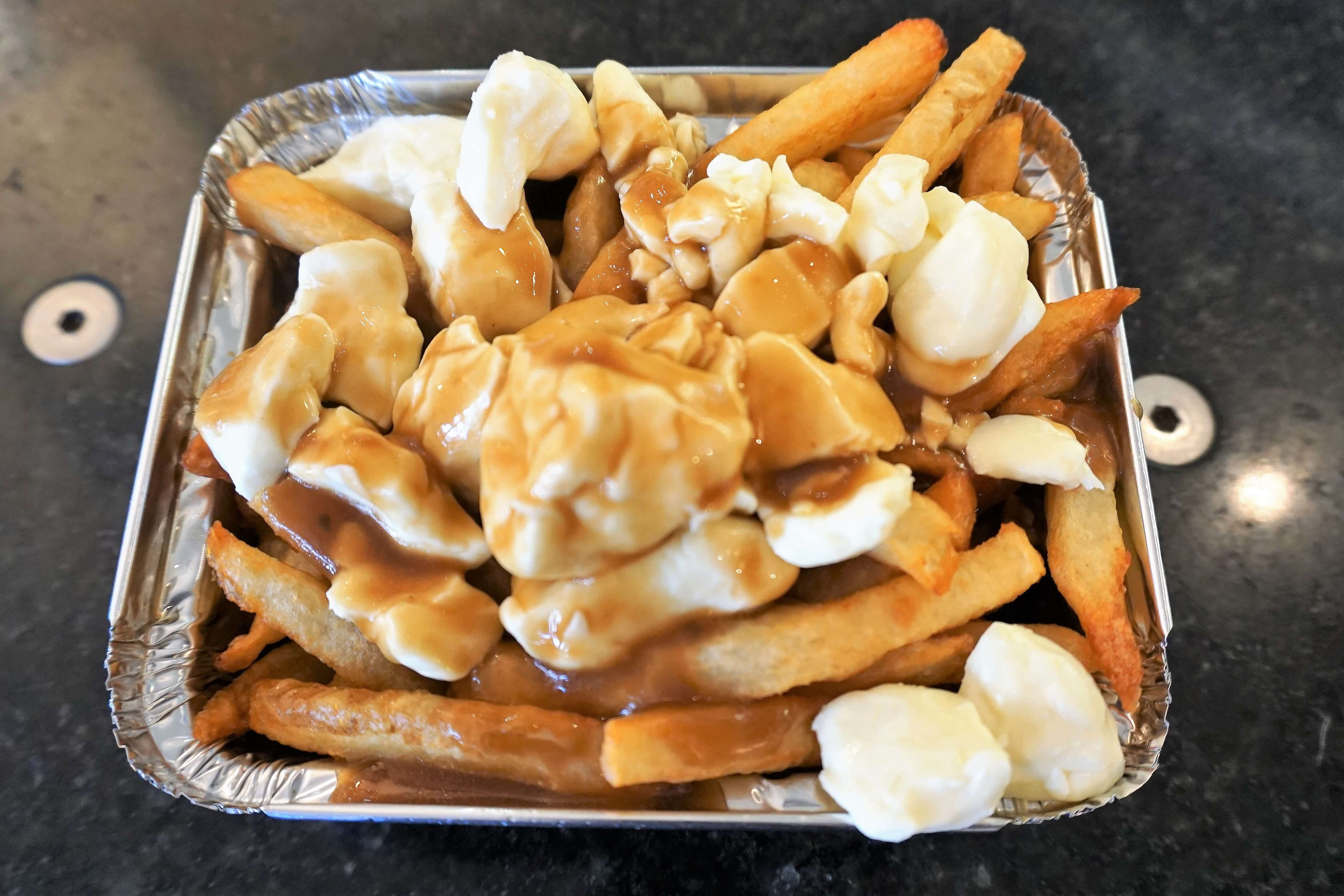 Delicious poutine from Chez Ashton--a required food for Quebec visitors