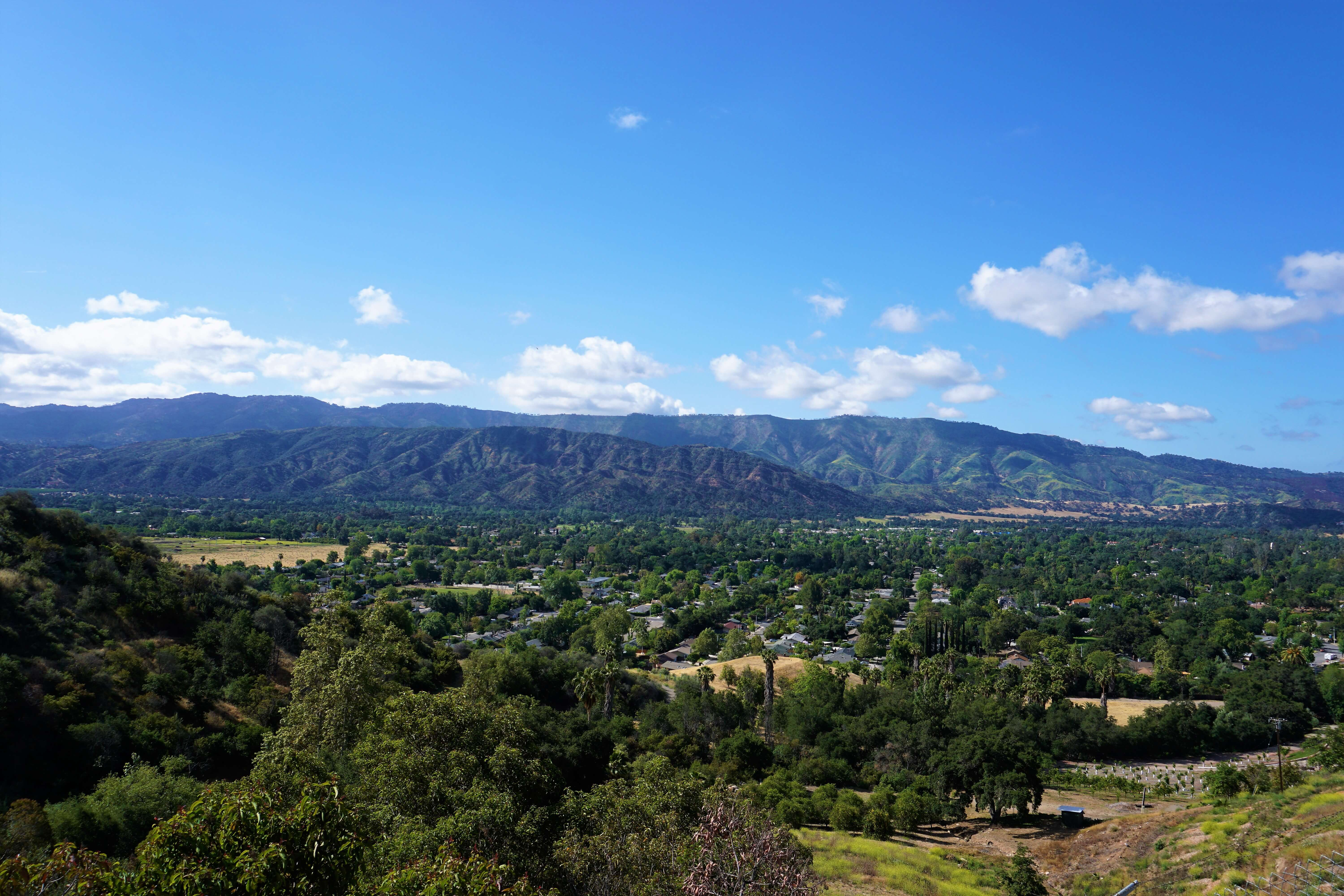 Hiking in Ojai, a beautiful view of the valley