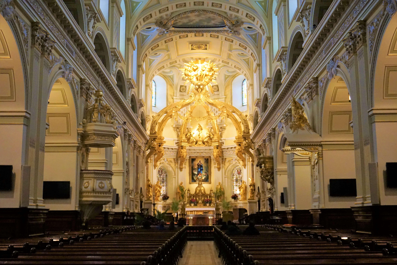 Inside the Notre Dame de Quebec