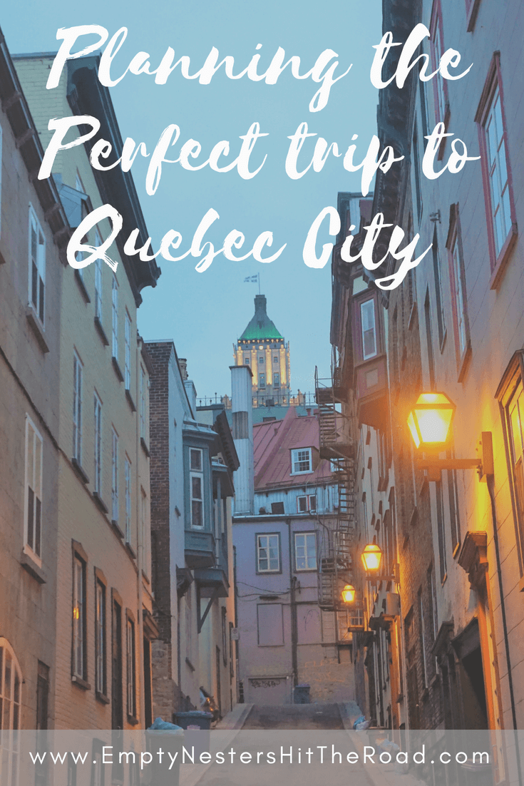 Quebec city is a fascinating destination--so many things to do and great places to eat. This city should be on everyone's list of future trips!
