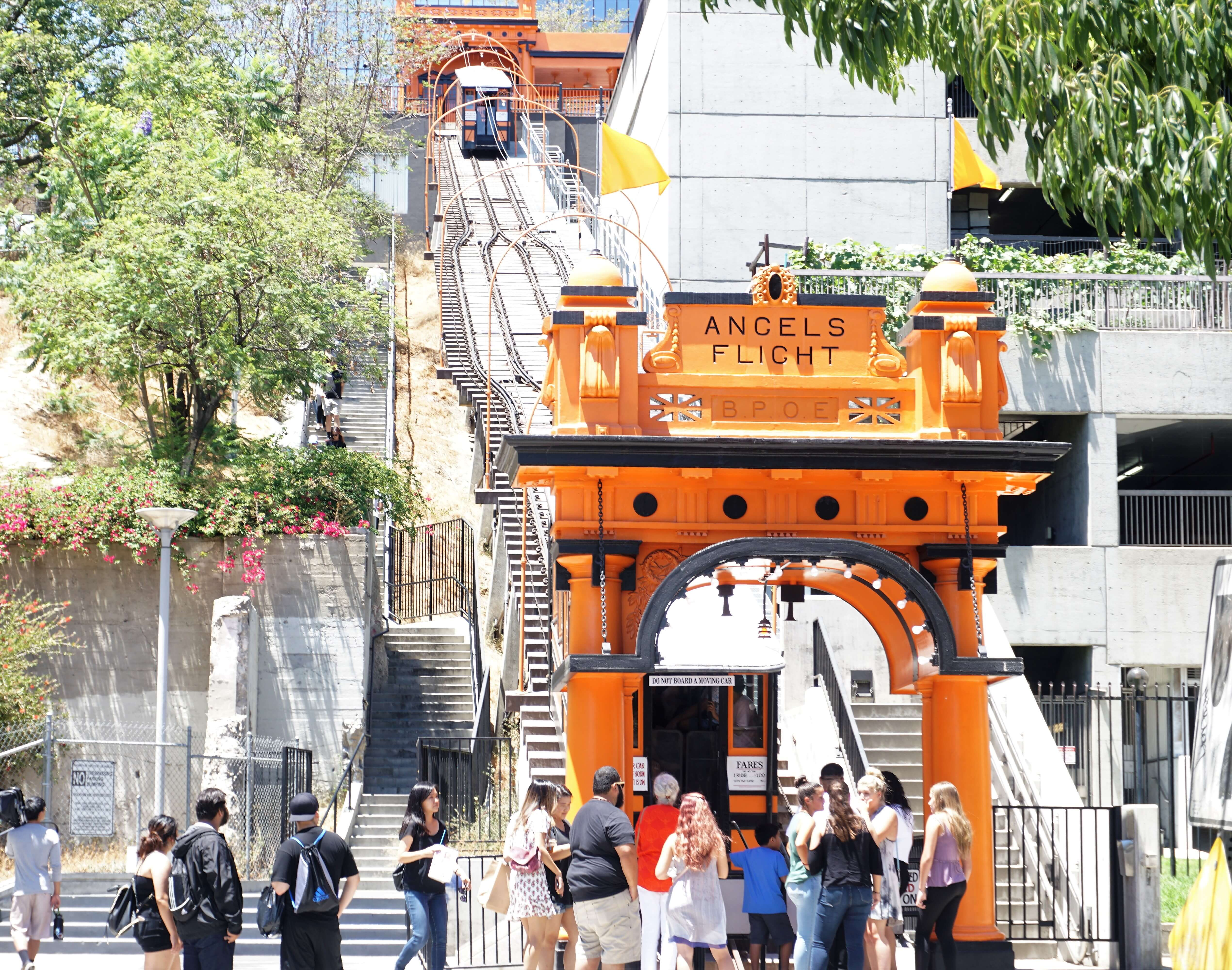 Angels Flight Railway in Downtown Los Angeles