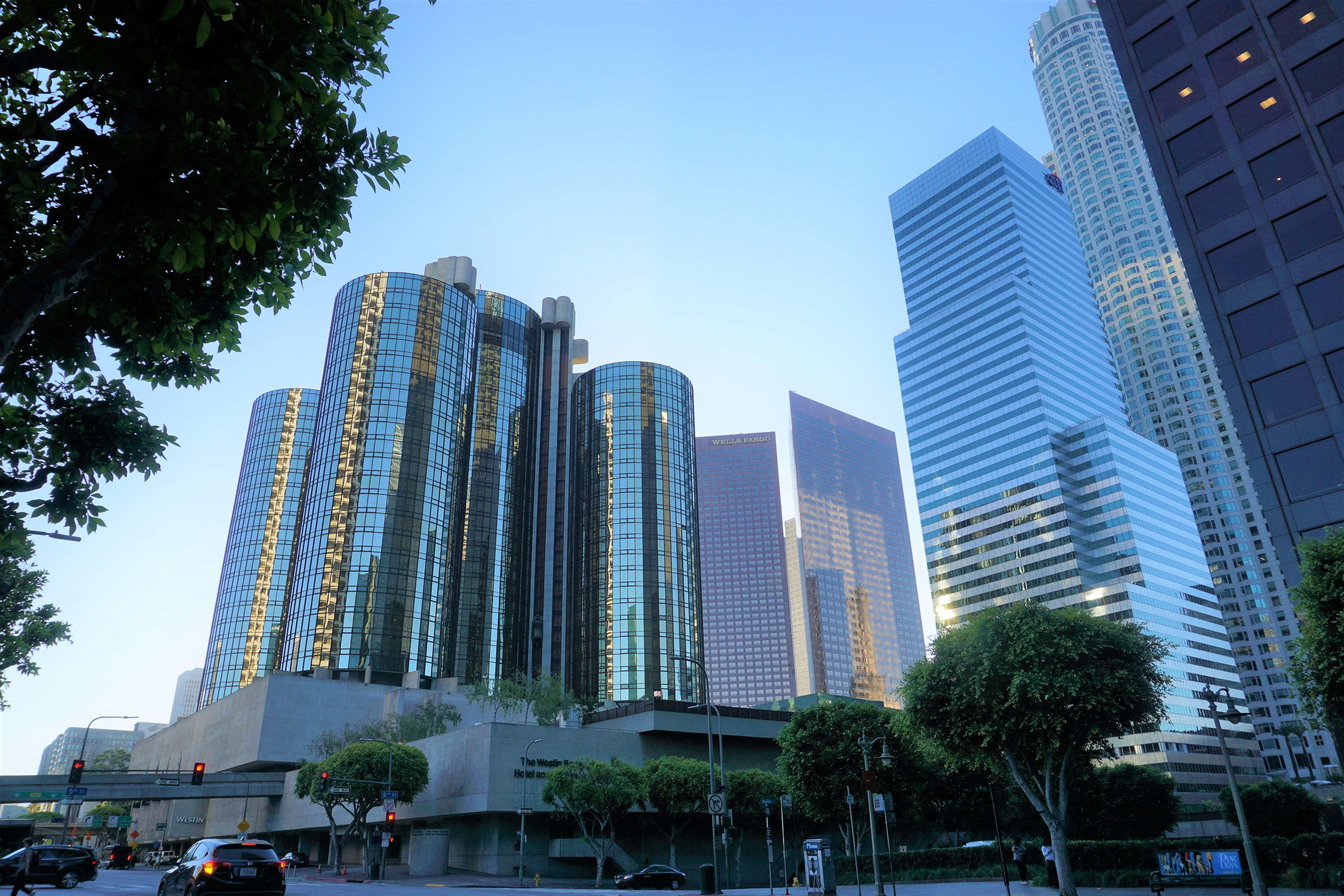 High rise buildings in Downtown Los Angeles