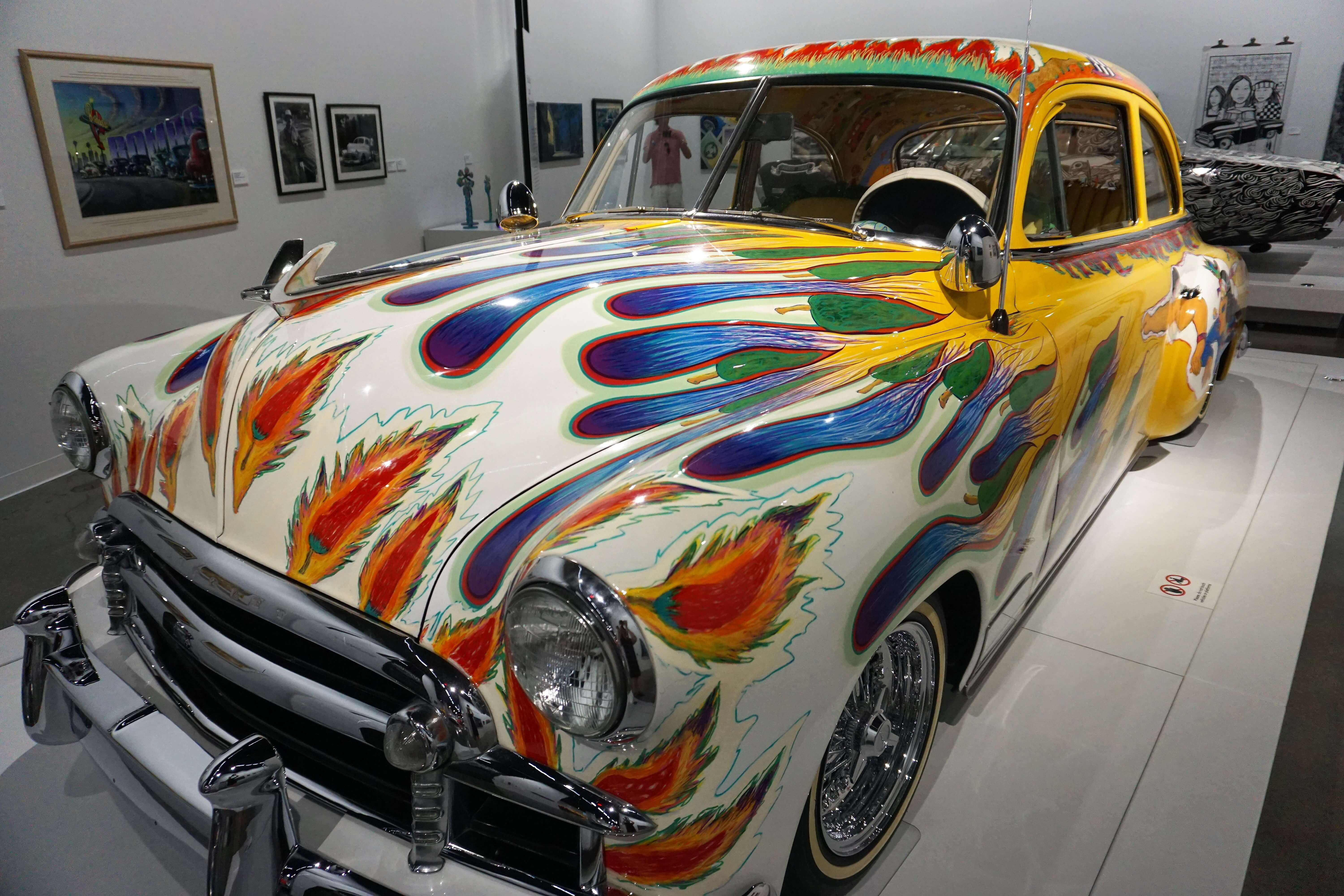 Part of the low-rider exhibit at the Petersen Automotive Museum