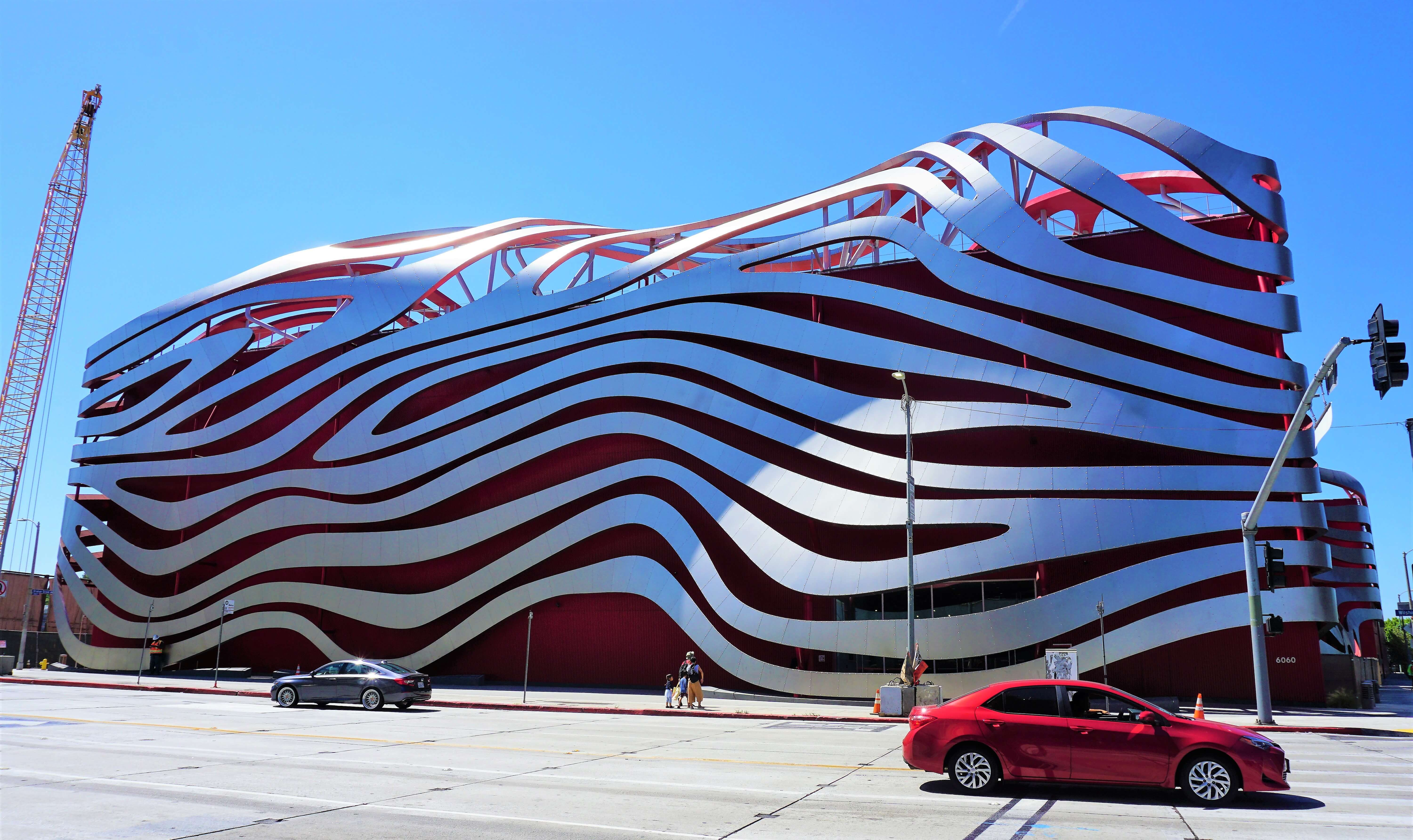 Exterior of the Petersen Automotive Museum