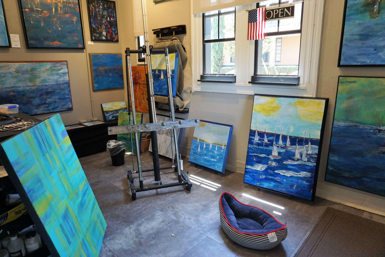Inside an artists studio
