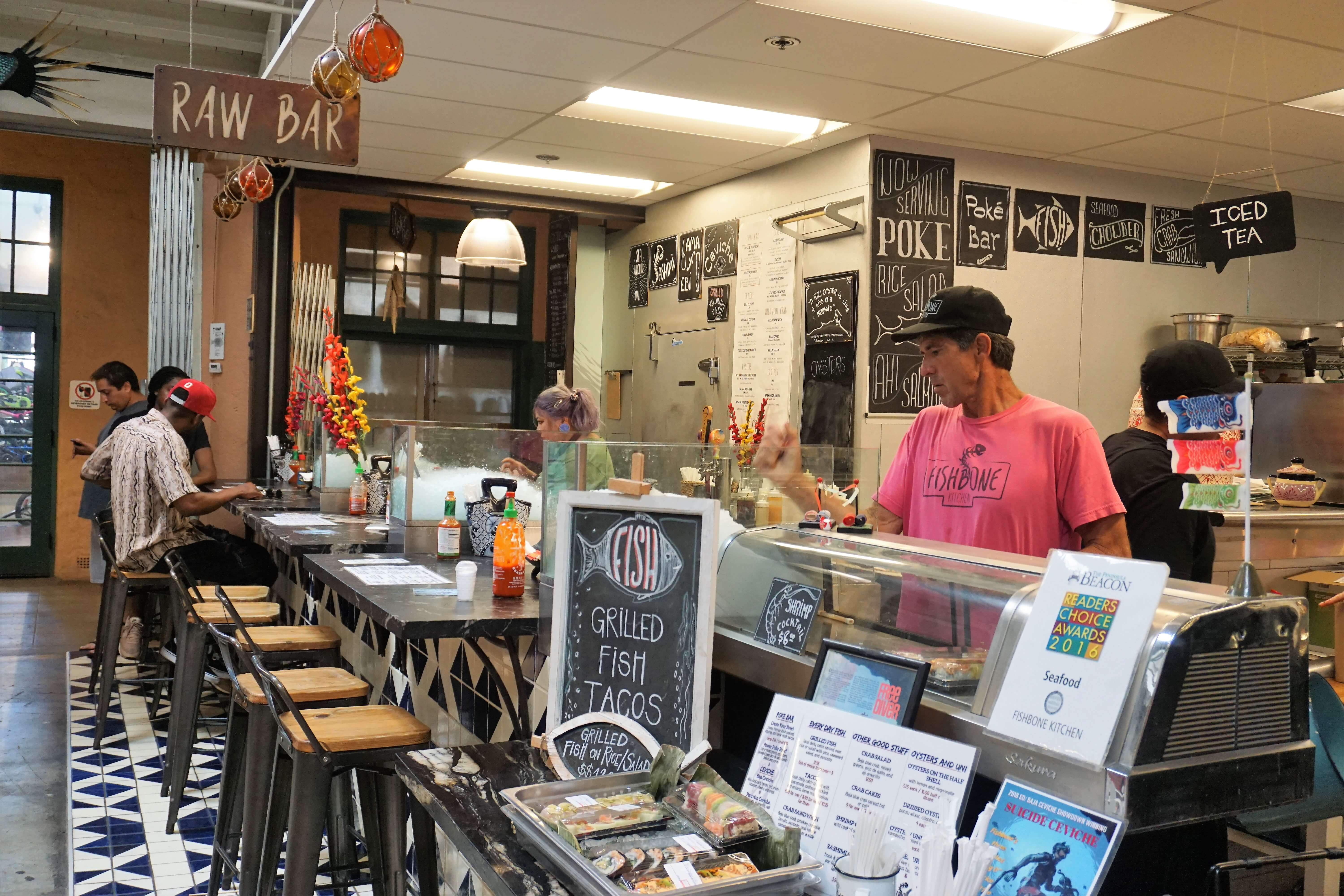 Inside Liberty Public Market, a great place to find all sorts of delicious food