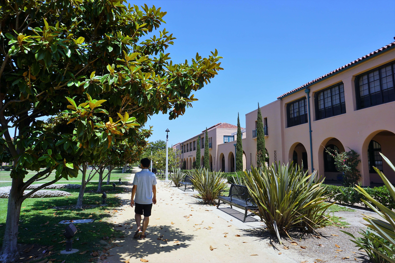 Jason strolling through the Arts District