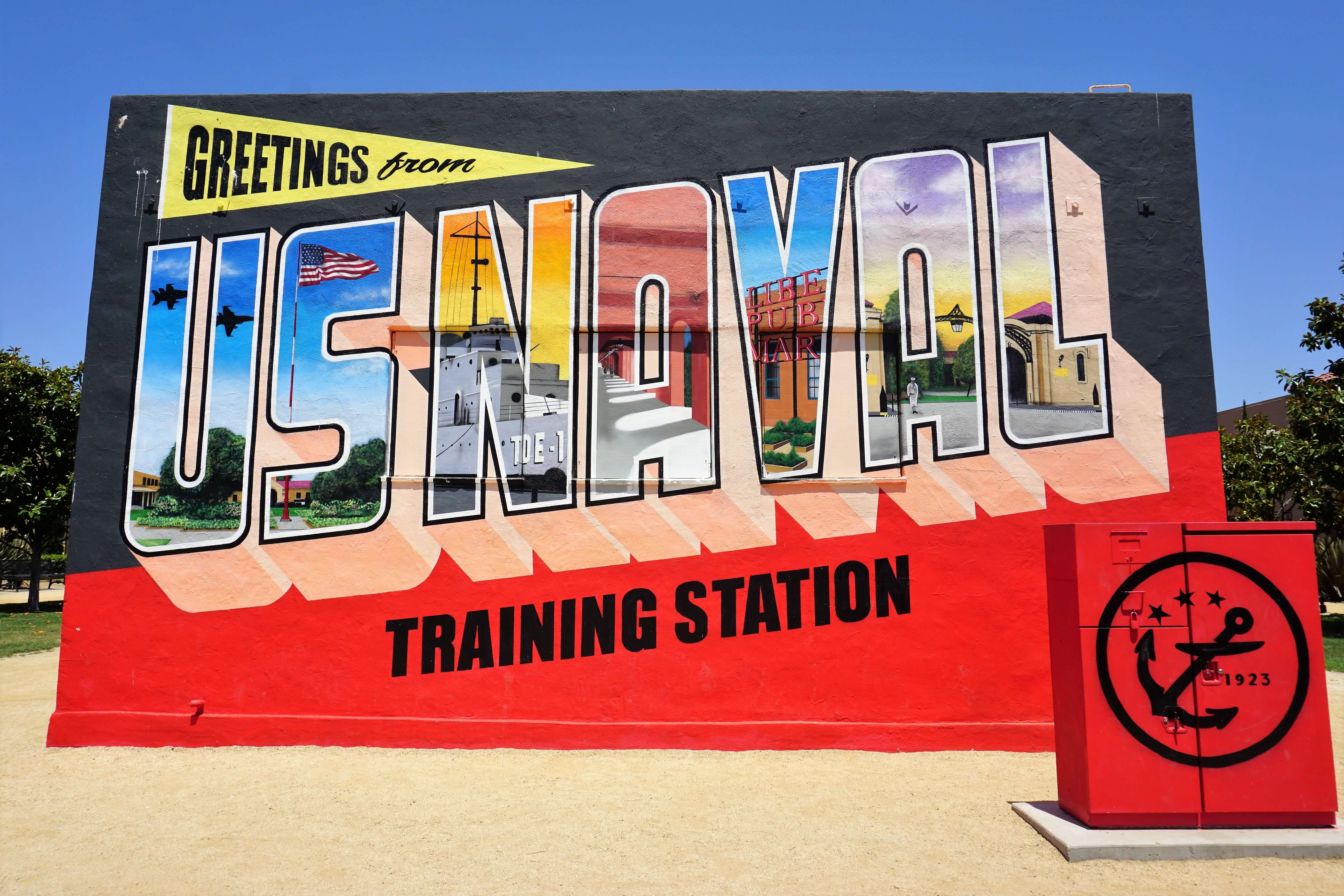 US Naval Training Station Mural, seen at Liberty Station in San Diego