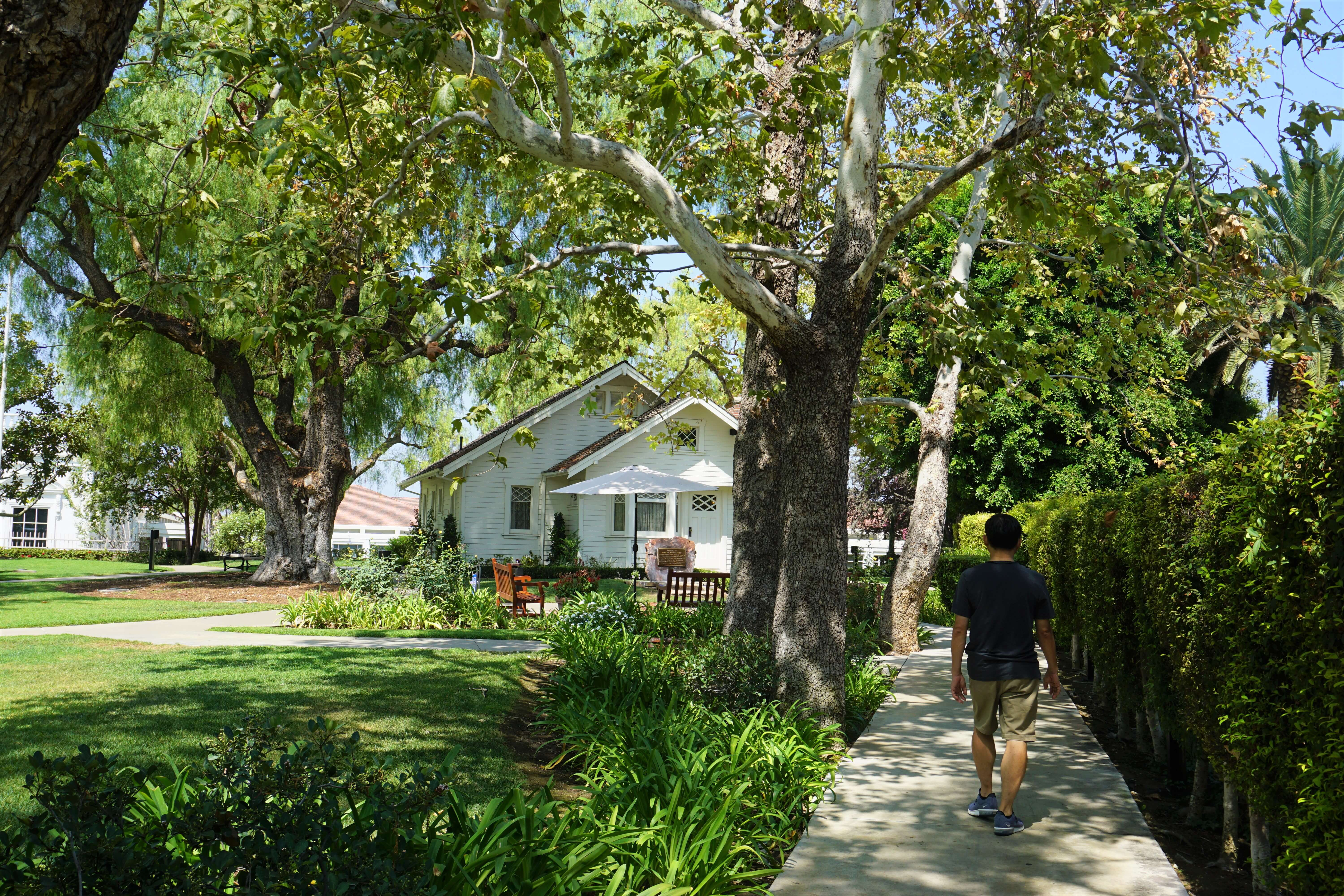 Nixon's childhood home displayed at the Richard Nixon Presidential Library and Museum in Yorba Linda, California