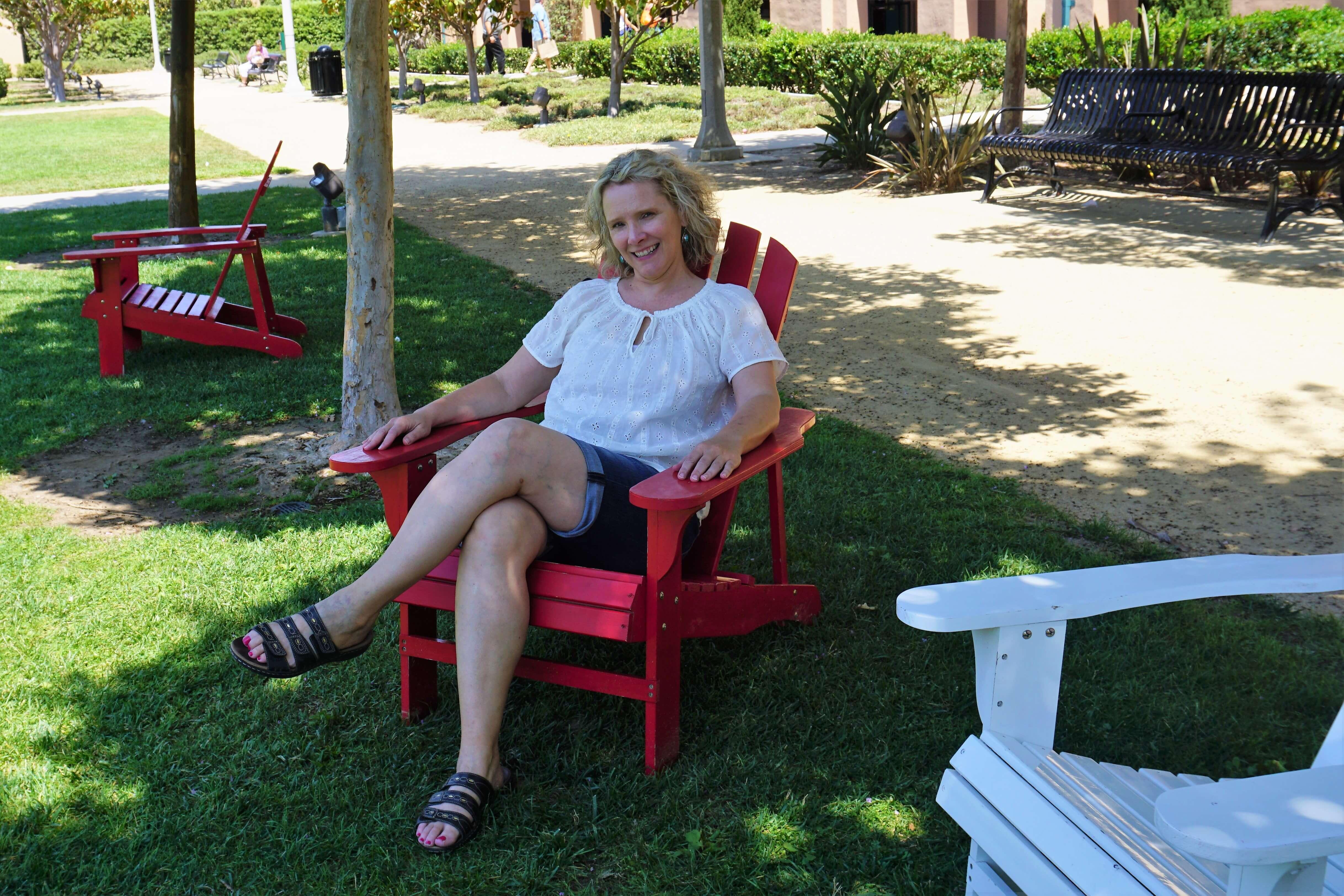 Wendy enjoying the shade