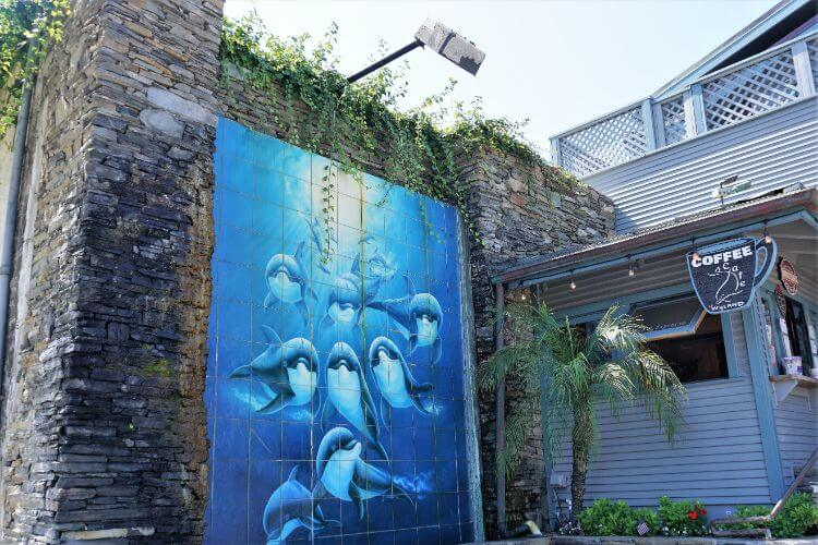 Artwork outside the Wyland Gallery in Laguna Beach, California