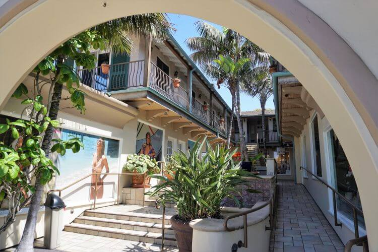 Shops and galleries in Laguna Beach, California