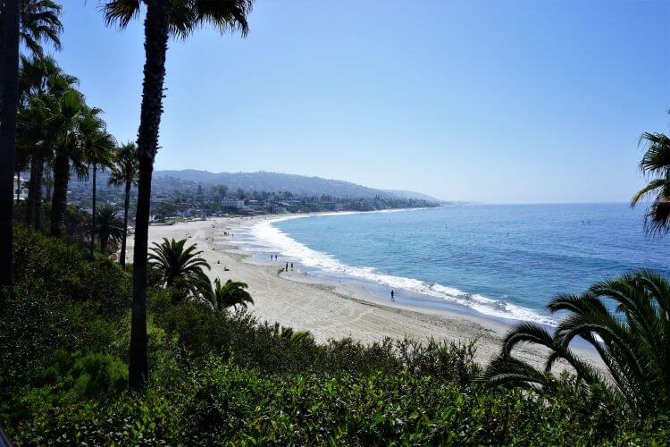 View of the ocean from Heisler Park located in Laguna Beach, Southern California