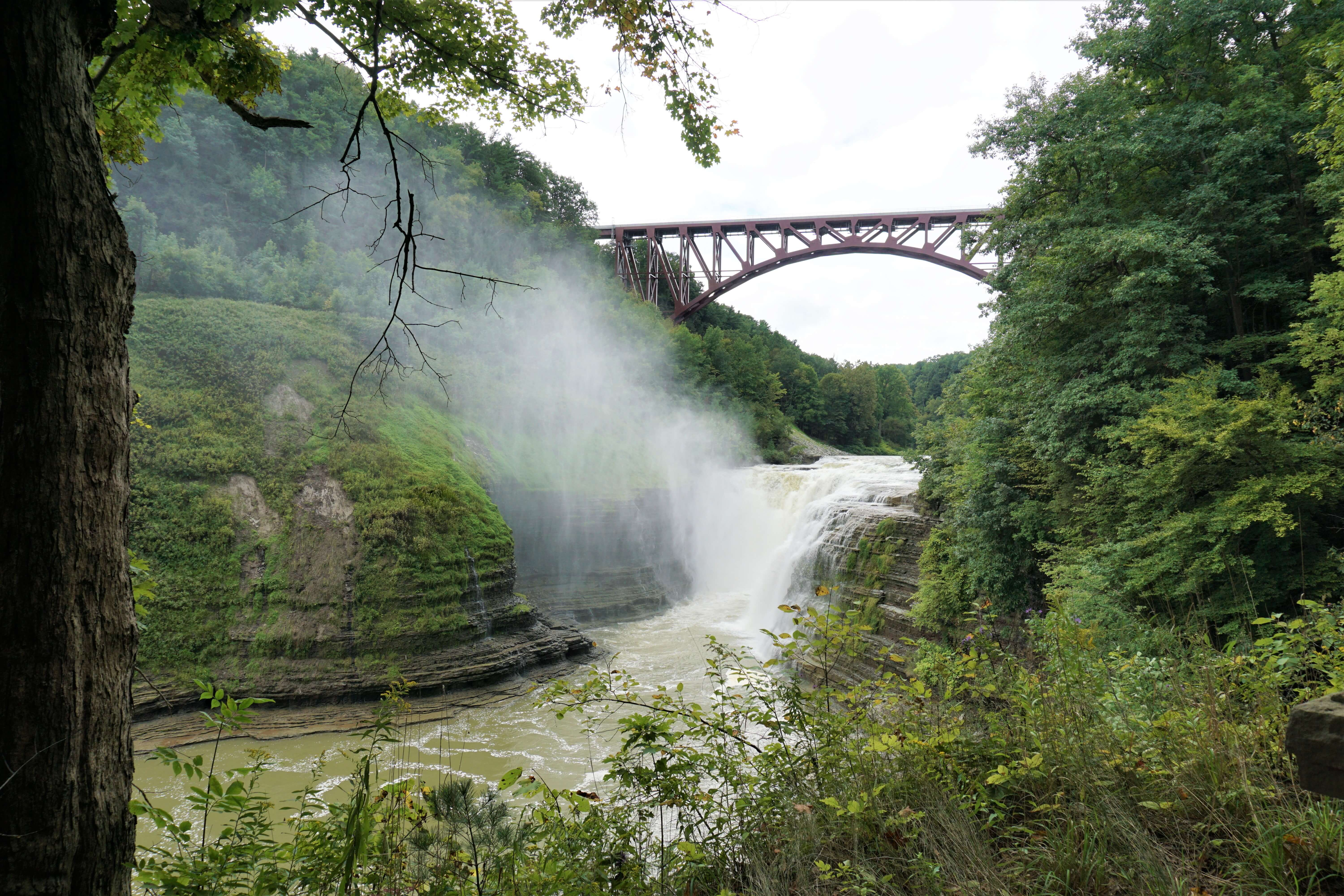 Finger Lakes hiking--Letchworth State Park Upper Falls