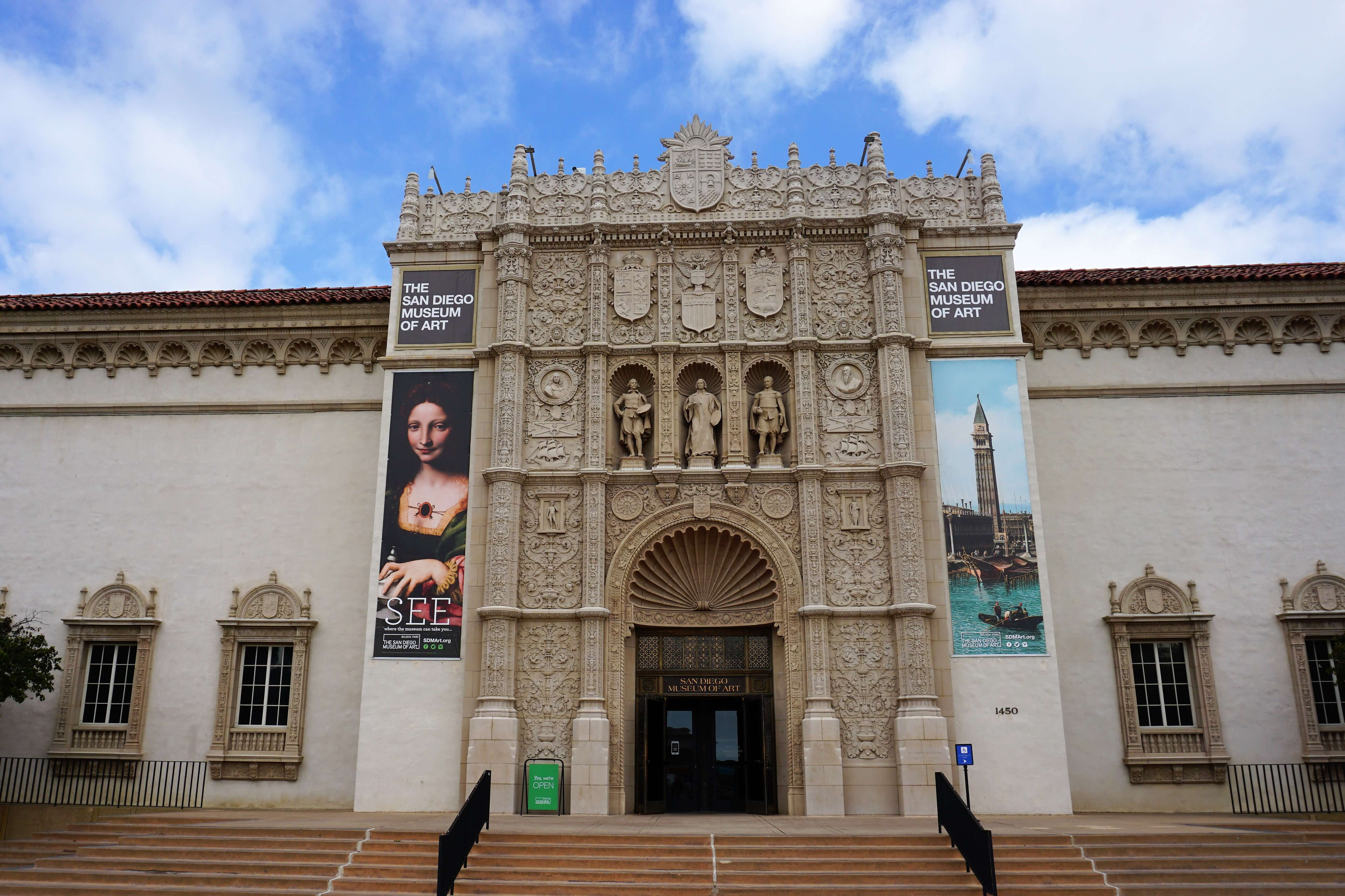 Exterior view of the San Diego Museum of Art
