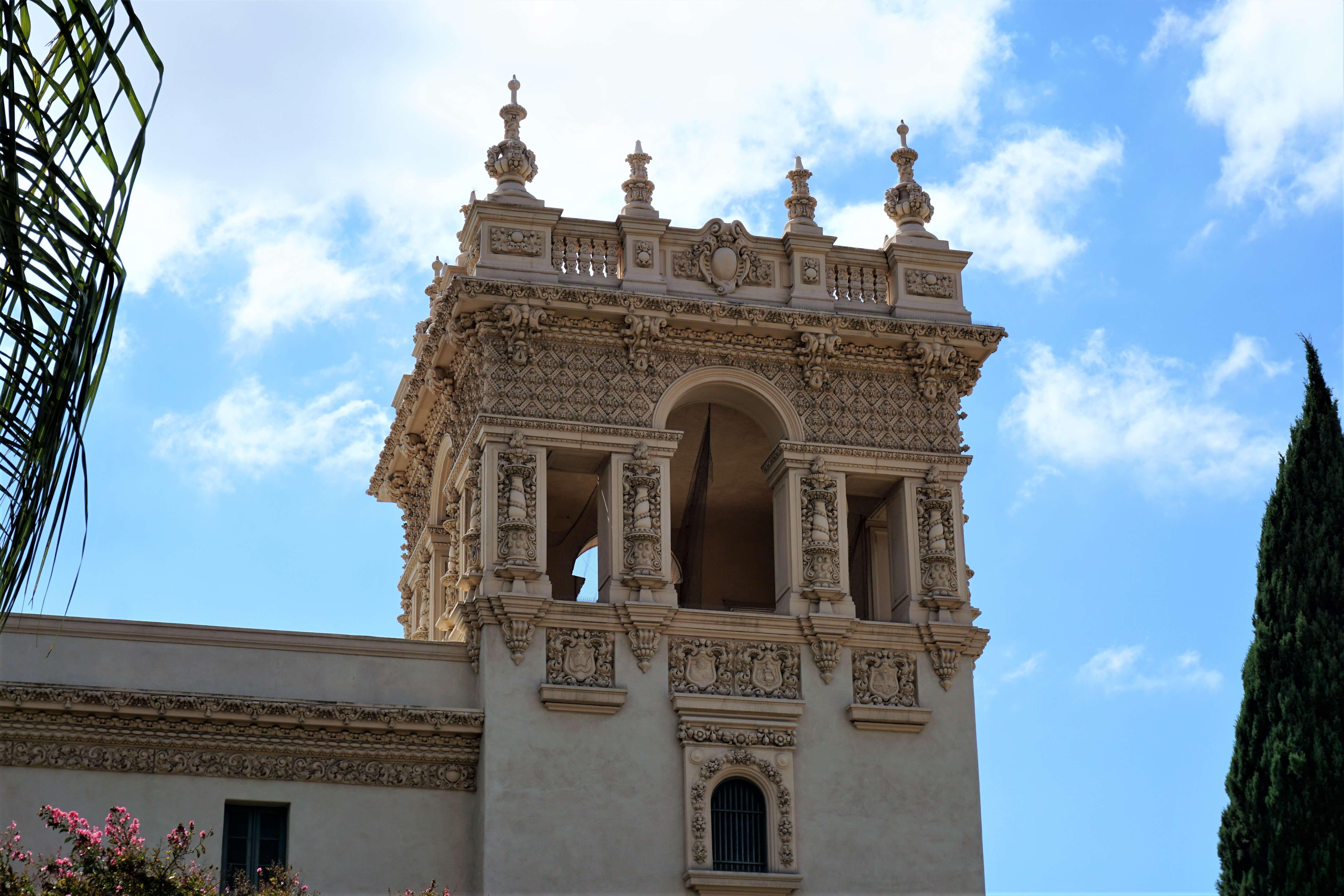 Spanish Renaissance building along El Prado in Balboa Park
