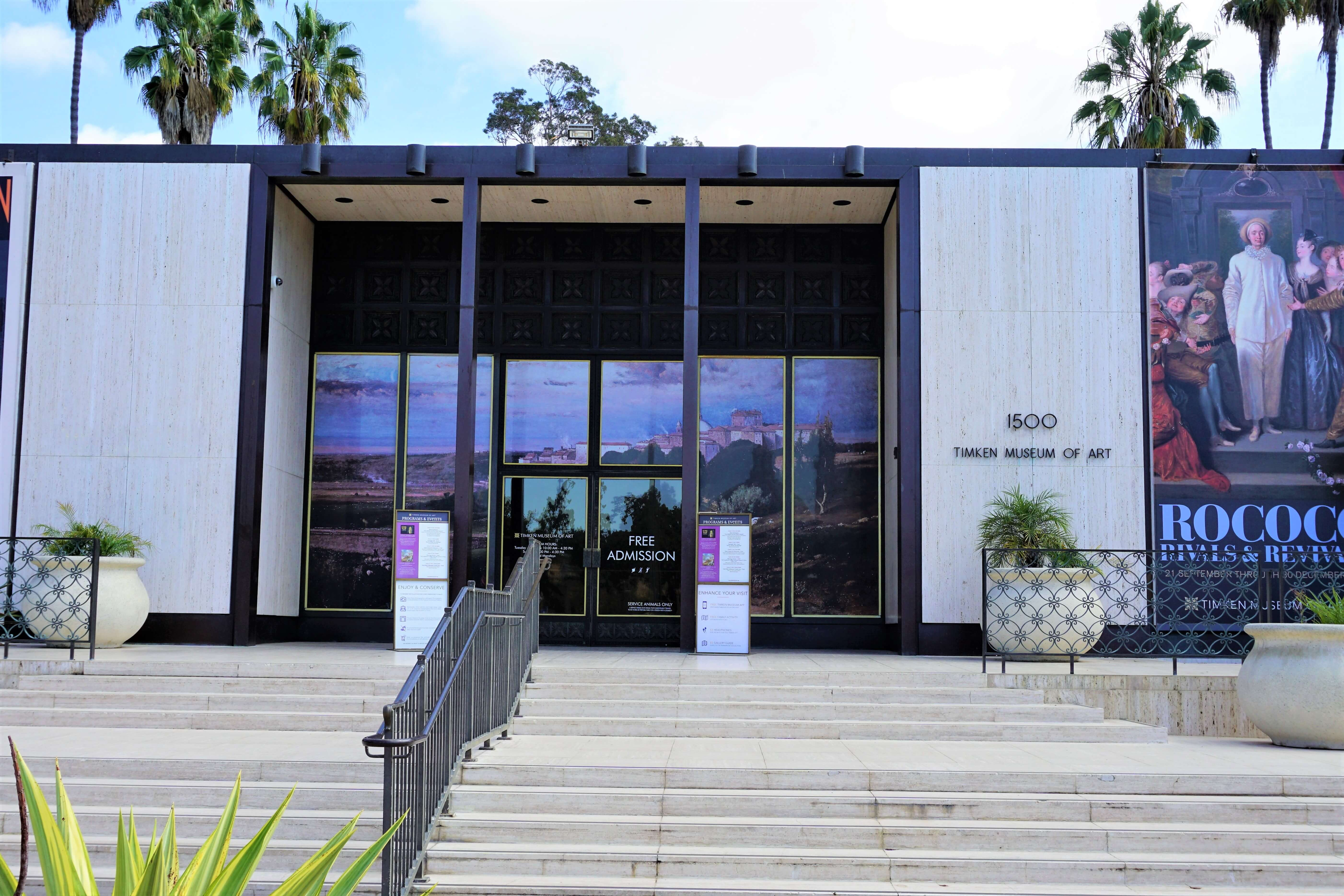 Exterior view of Timken Museum of Art in Balboa Park, San Diego