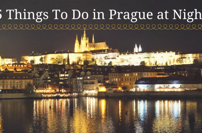 5 Things to do in Prague at night--A view at of the city at night from the Vltava River