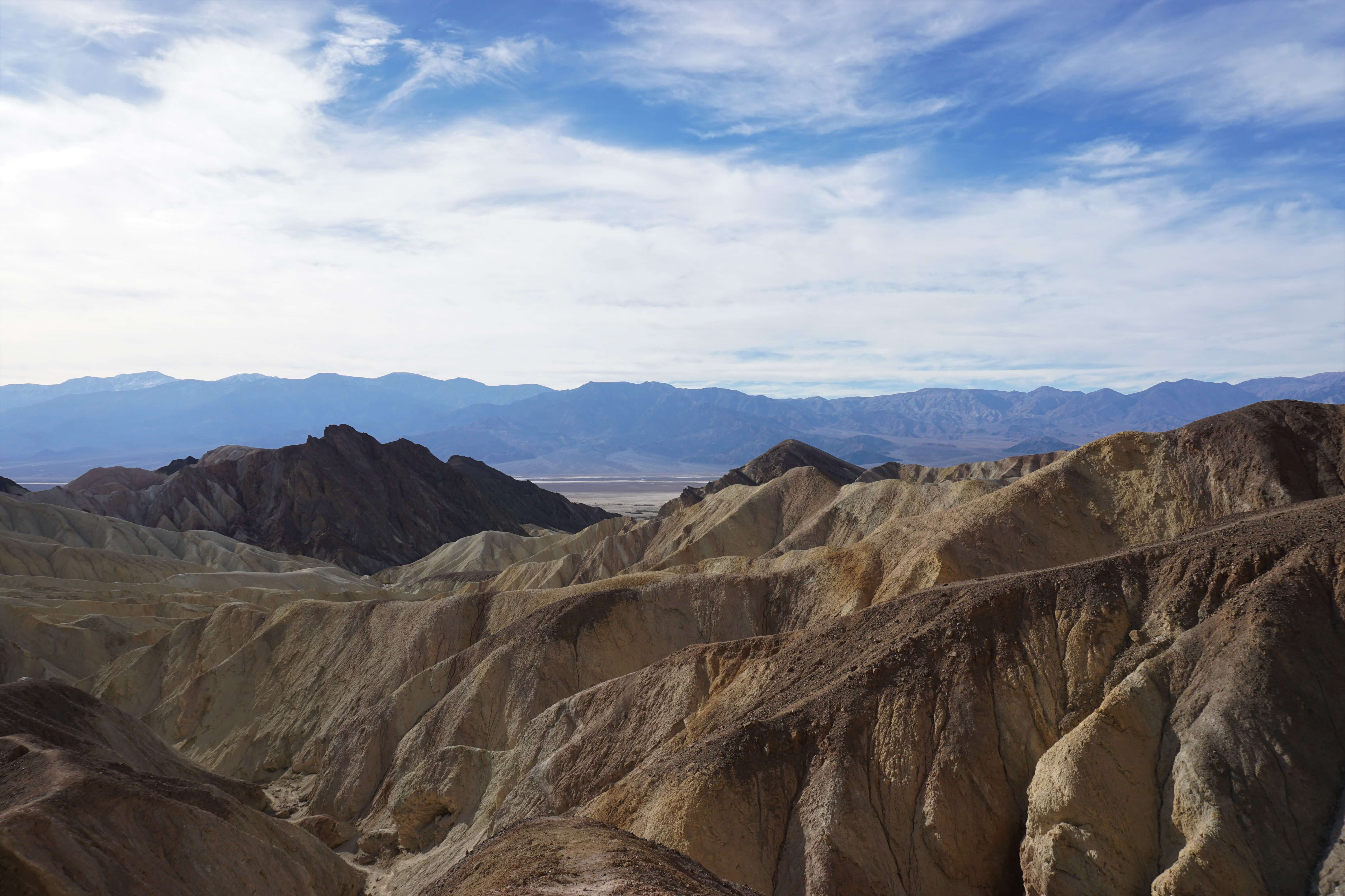 Golden Canyon hiking trail in Death Valley National Park