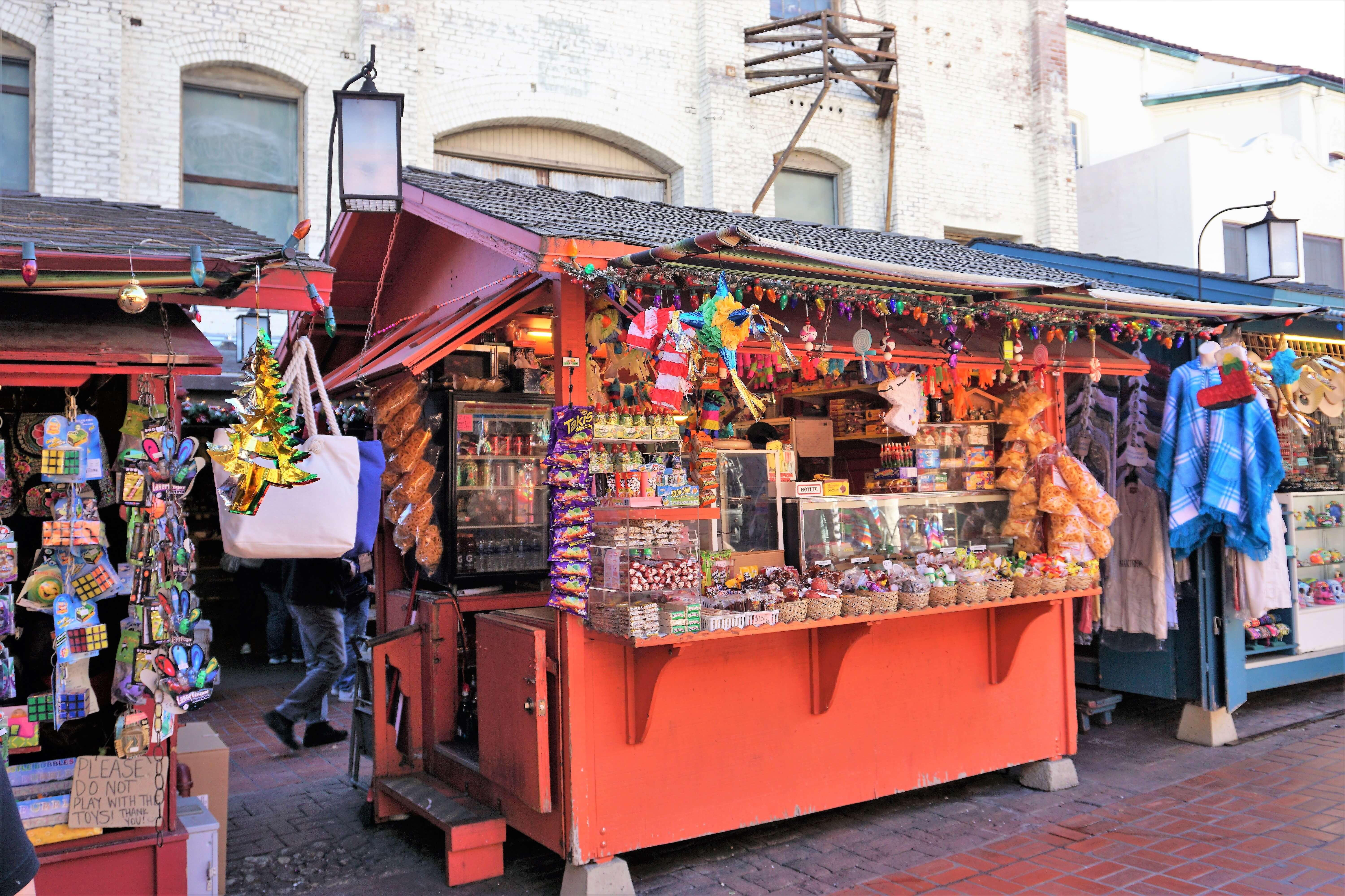 Colorful vendor's stall on Olvera Street