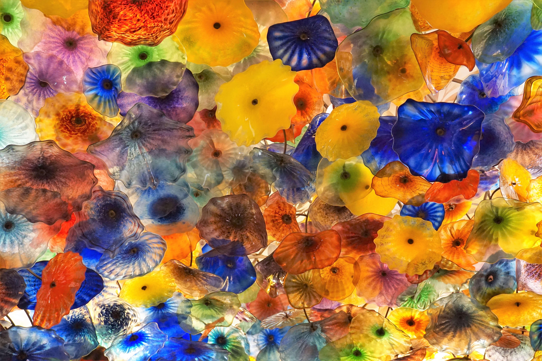 Glass art installation, Fiori di Como by Dale Chihuly at the Bellagio