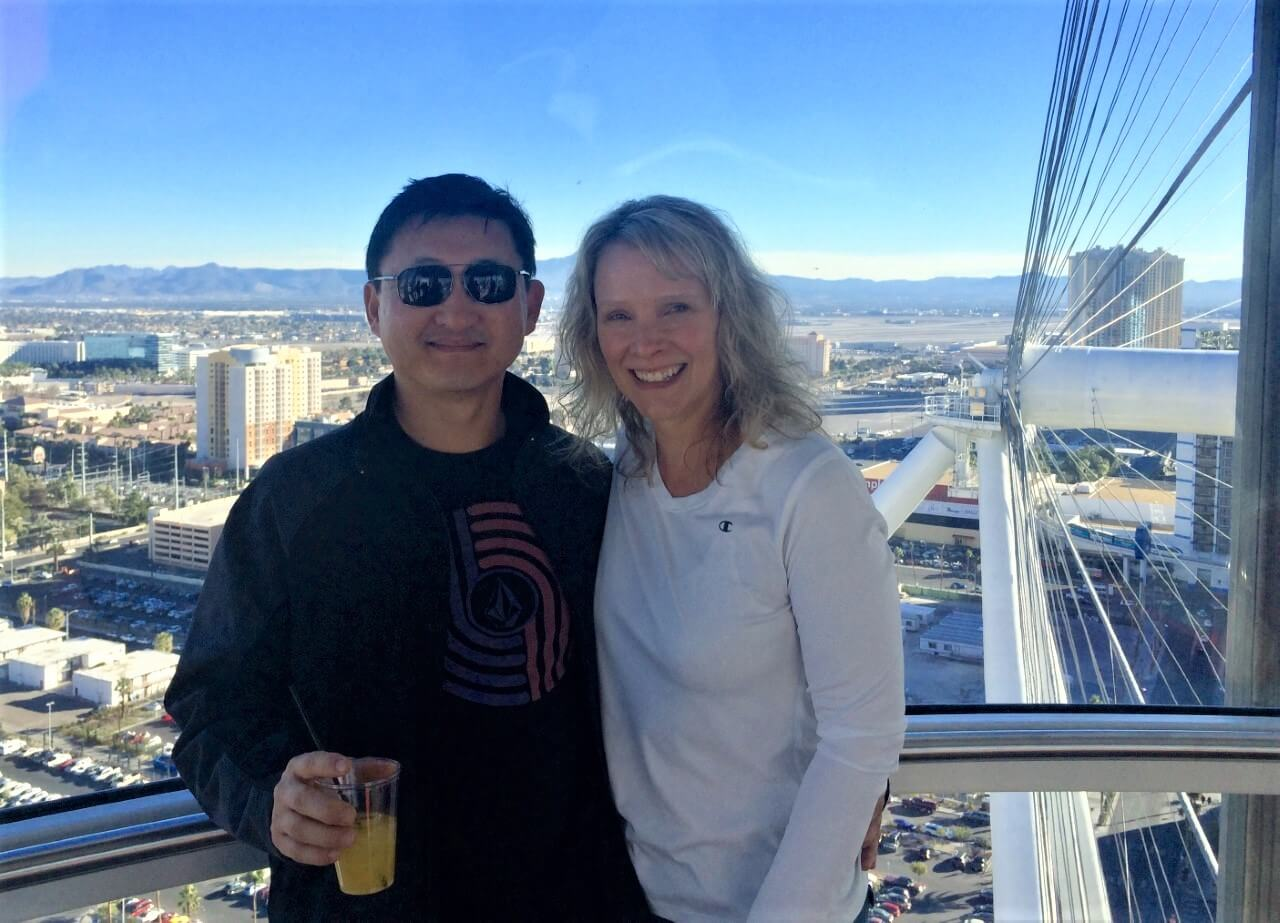 Wendy and Jason on the the Las Vegas High Roller