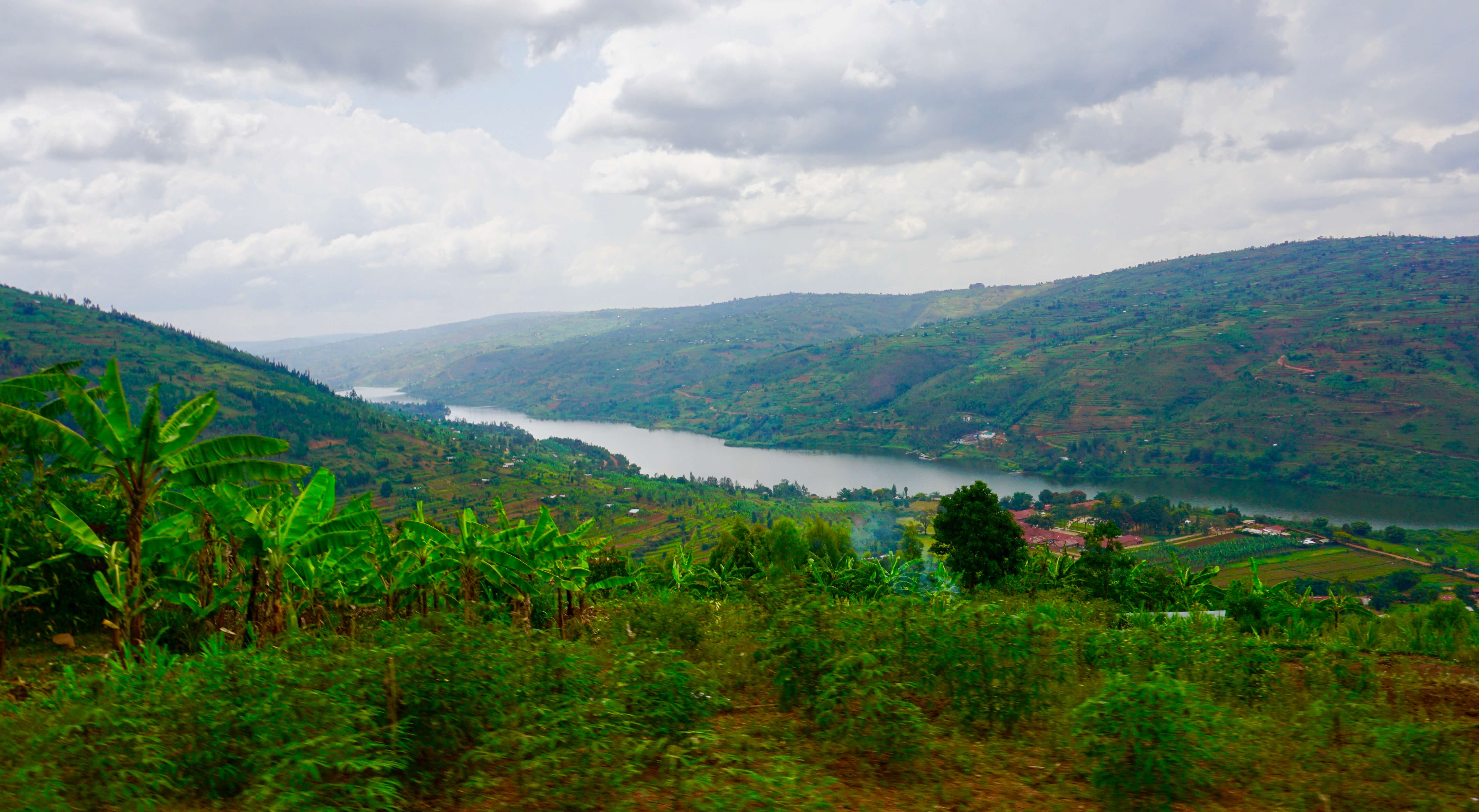 View of the Rwandan countryside
