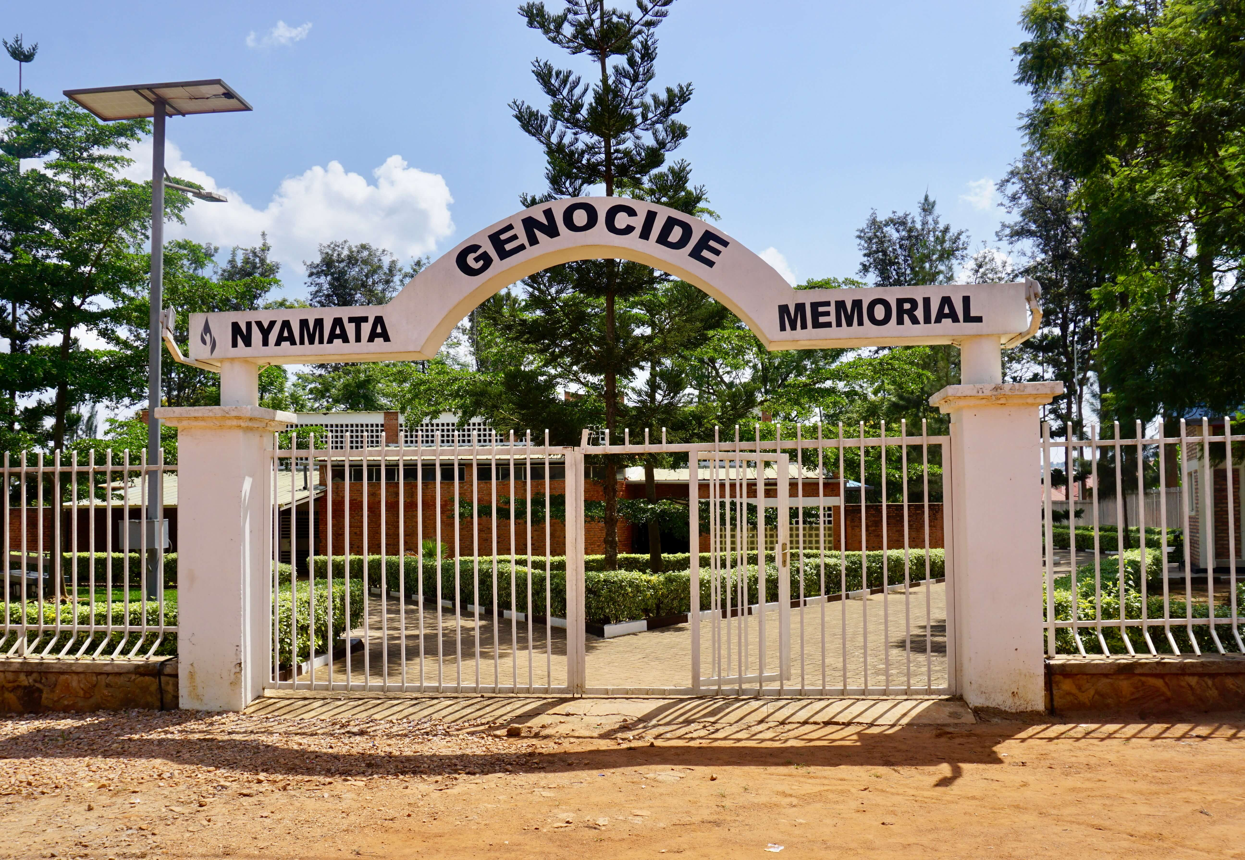 Entrance to the Nyamata Genocide Memorial