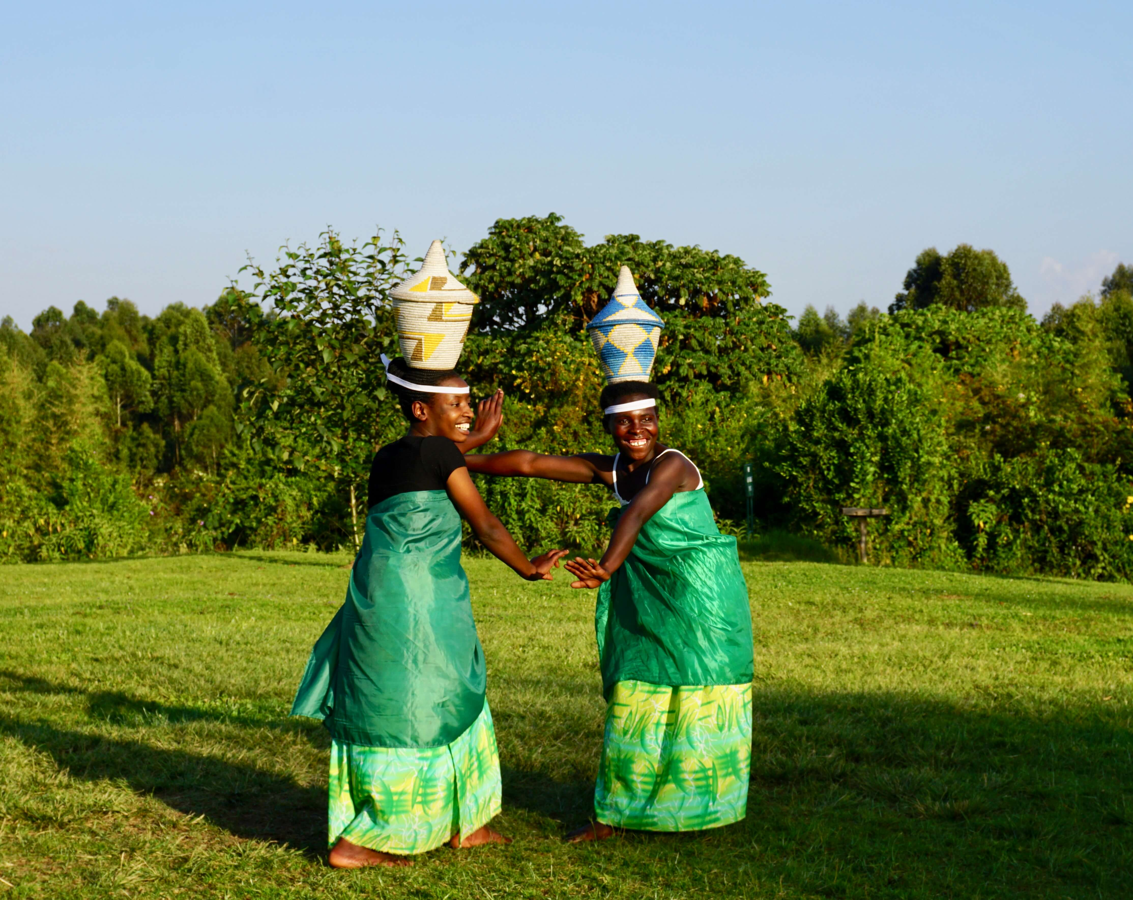 Traditional Rwandan dance show performed at the Mountain Gorilla View Lodge