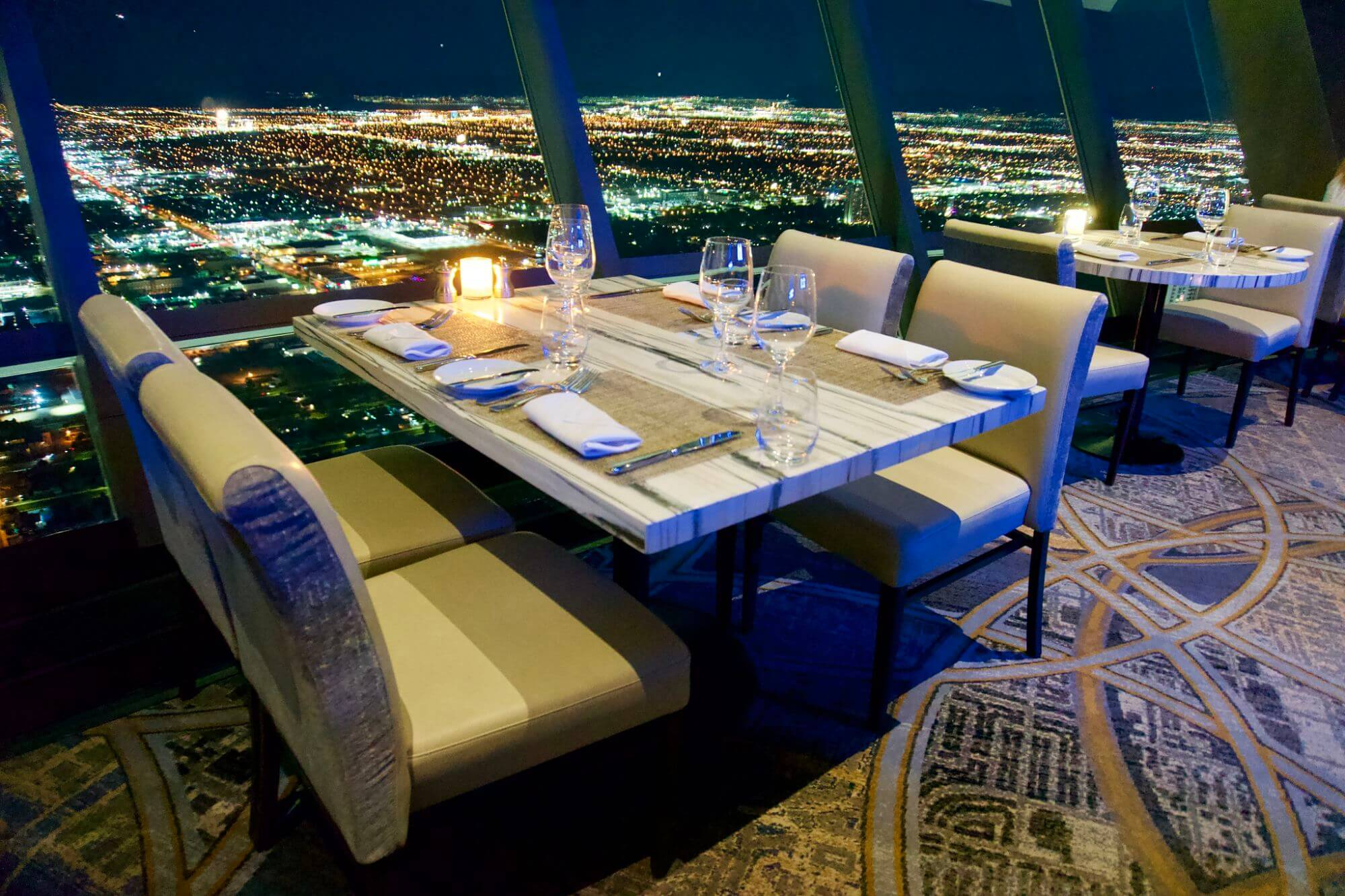 Interior view of the Top Of The World Restaurant at The Strat, Las Vegas, Nevada