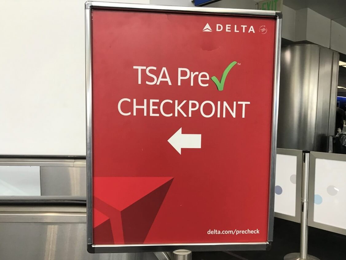 TSA Precheck sign at LAX