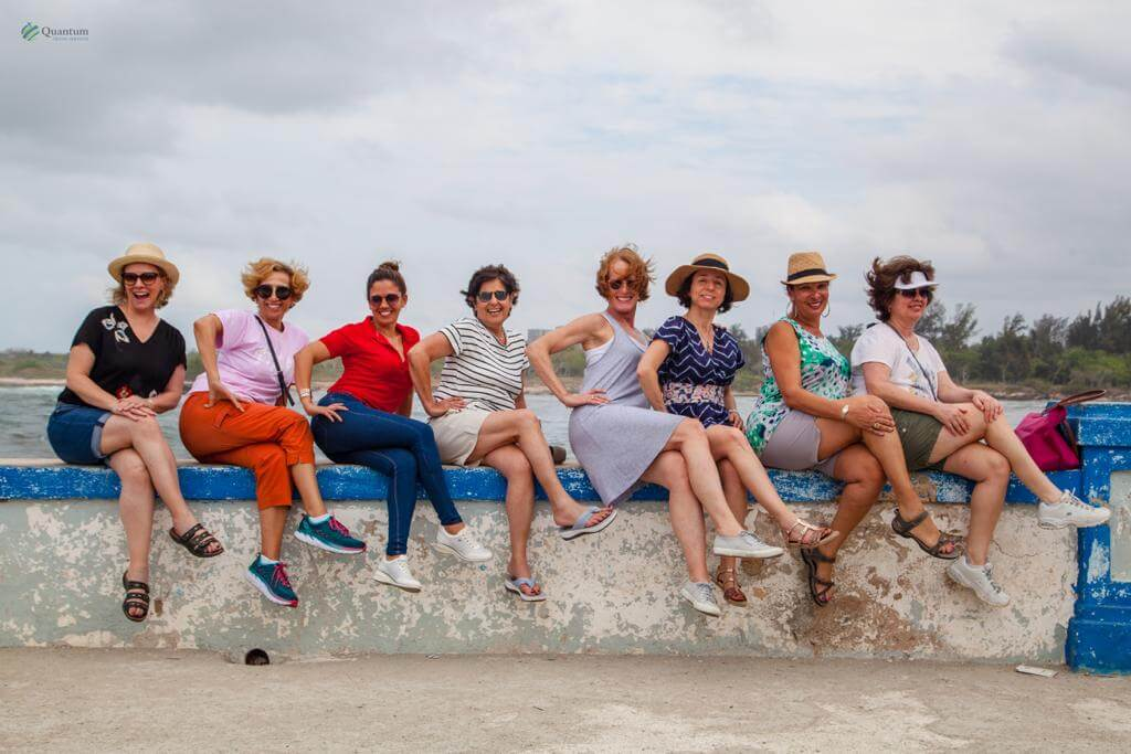 The fabulous women on our escorted tour to Cuba, photo courtQuantum Travel