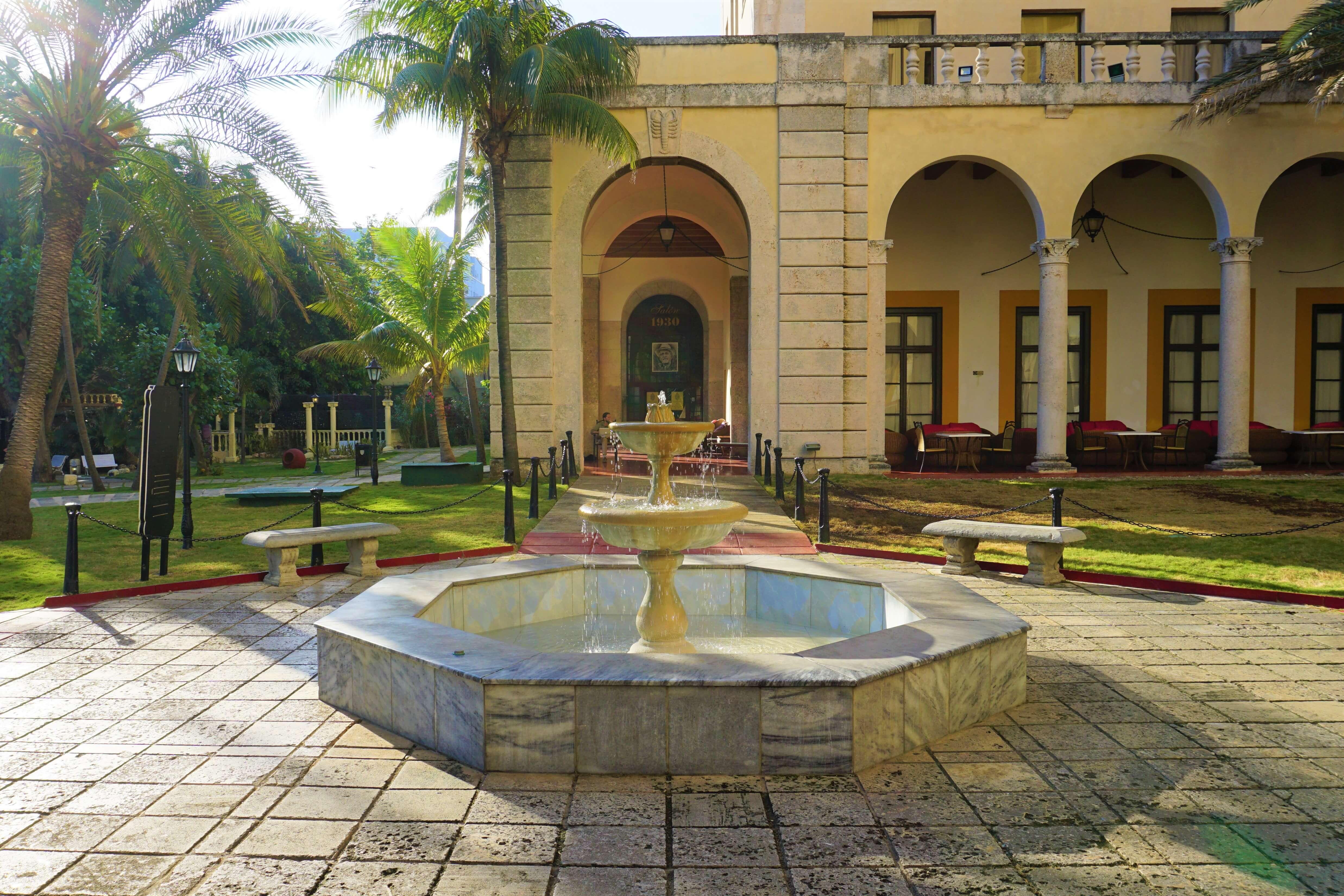 Courtyard of Hotel Nacional de Cuba
