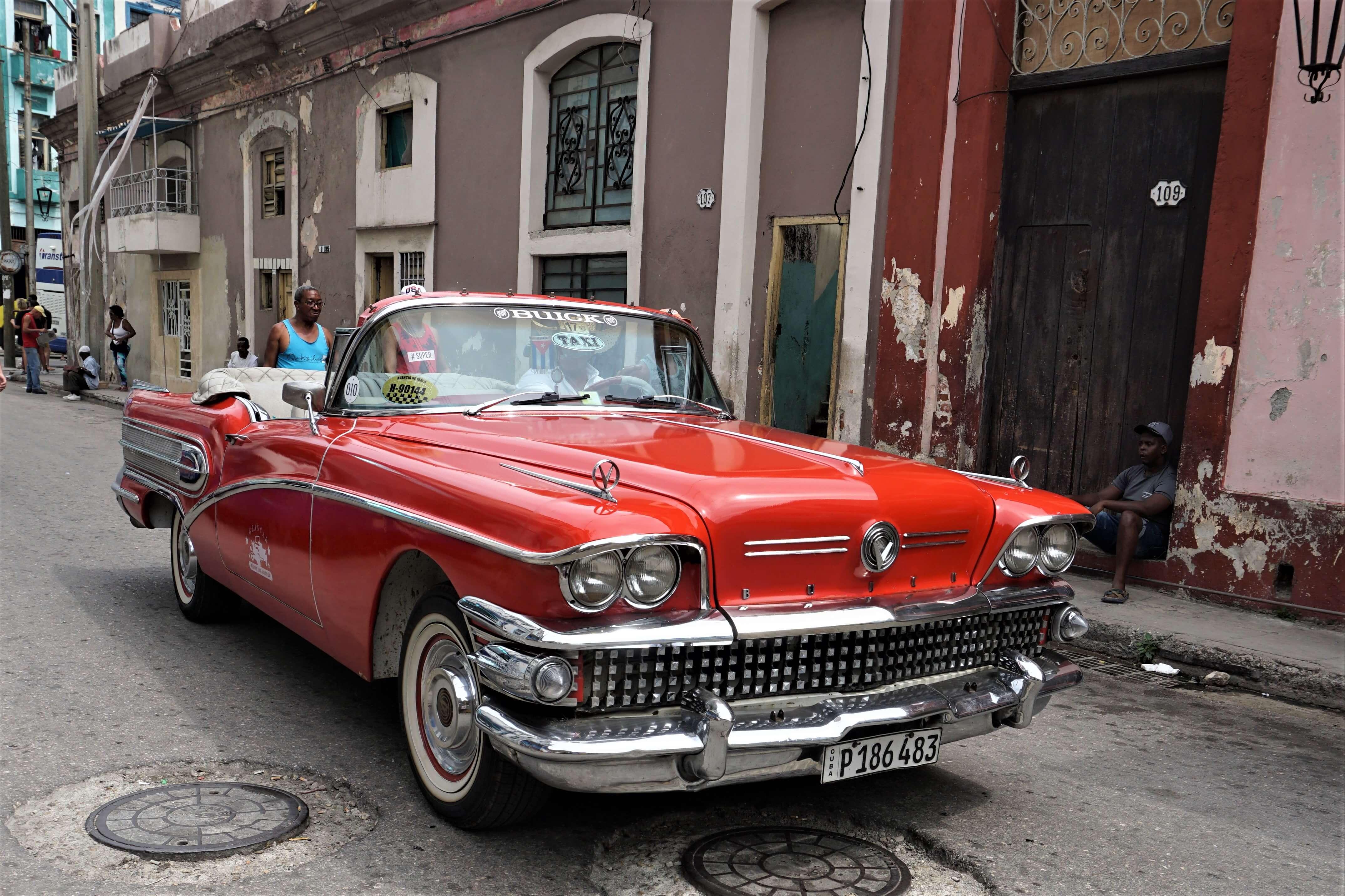 Restored car in Havana Cuba