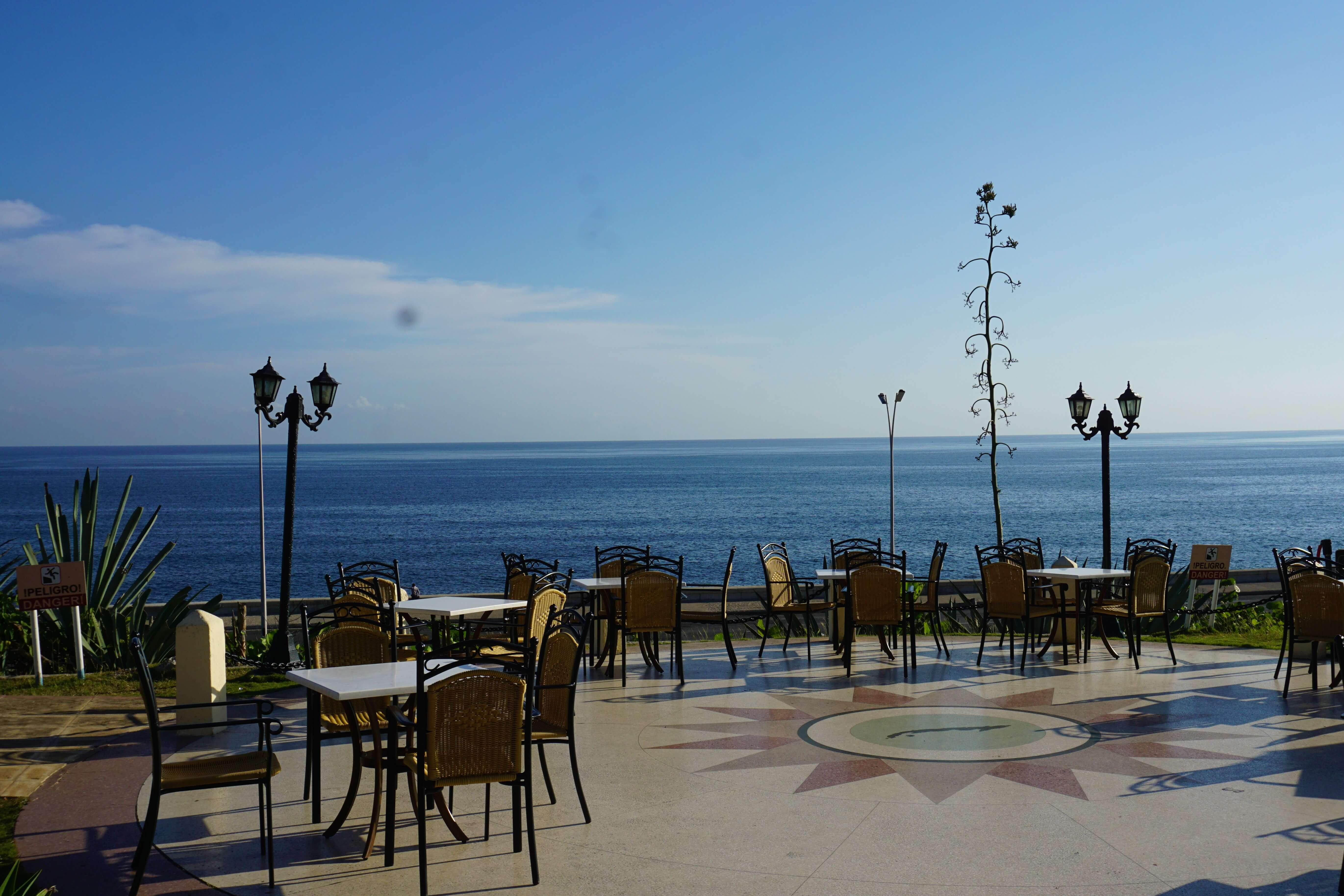 Ocean view from patio of Hotel Nacional de Cuba