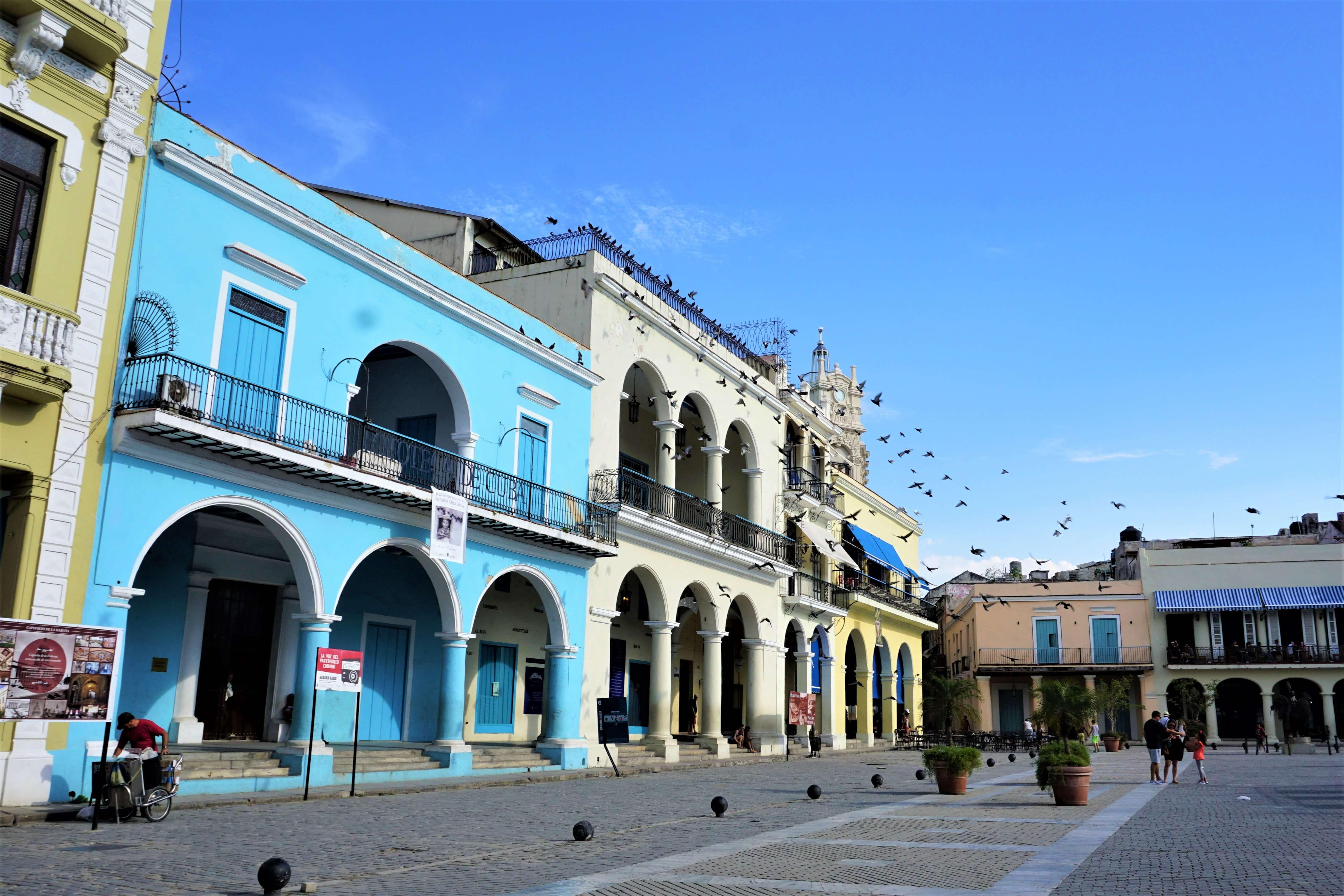 Plaza Viejas in Old Havana Cuba