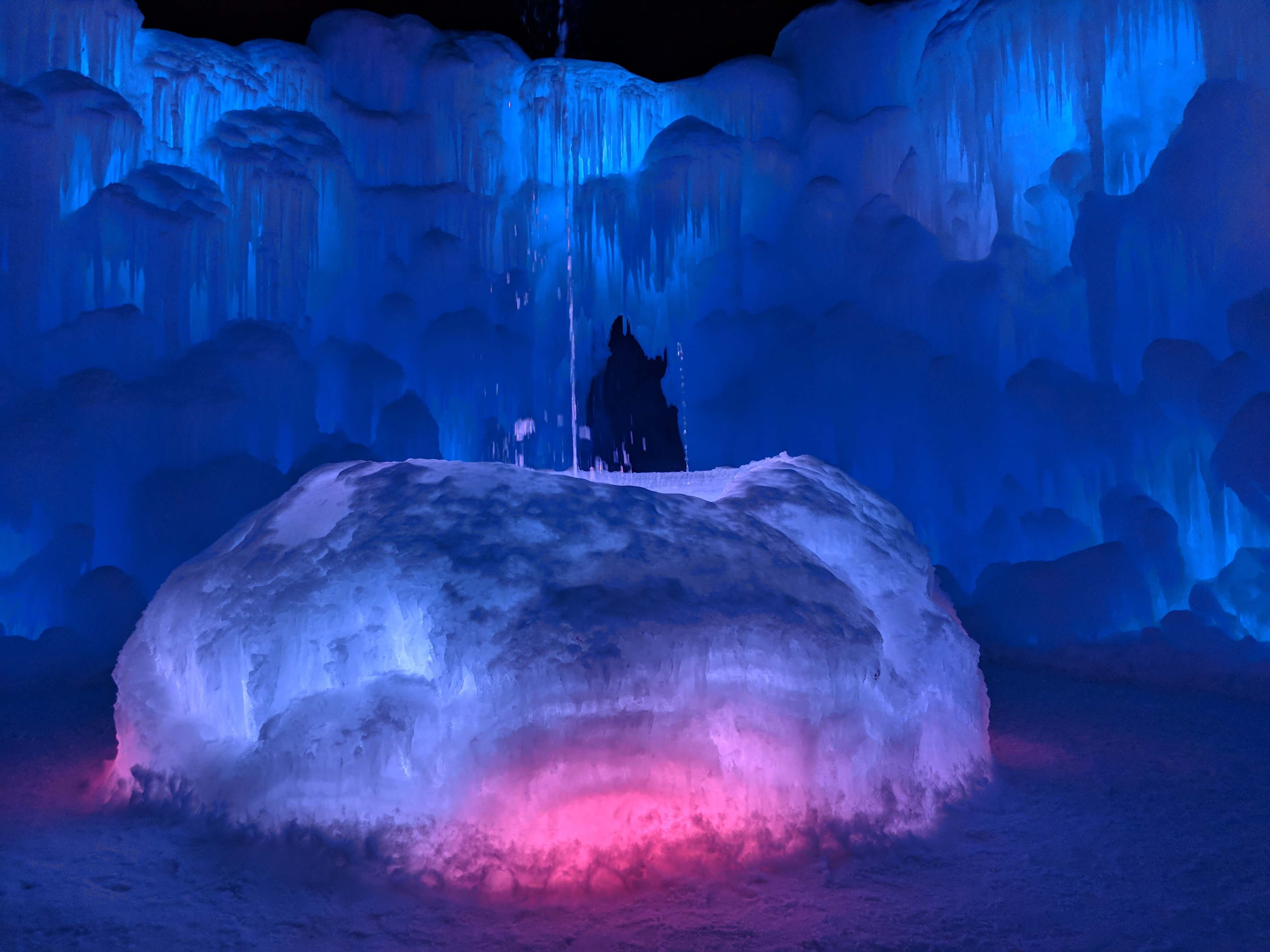 Ice castles fountain