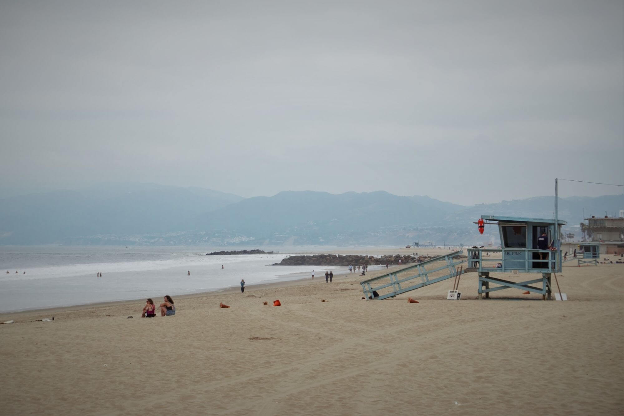 Lifeguard station on Venice Beach