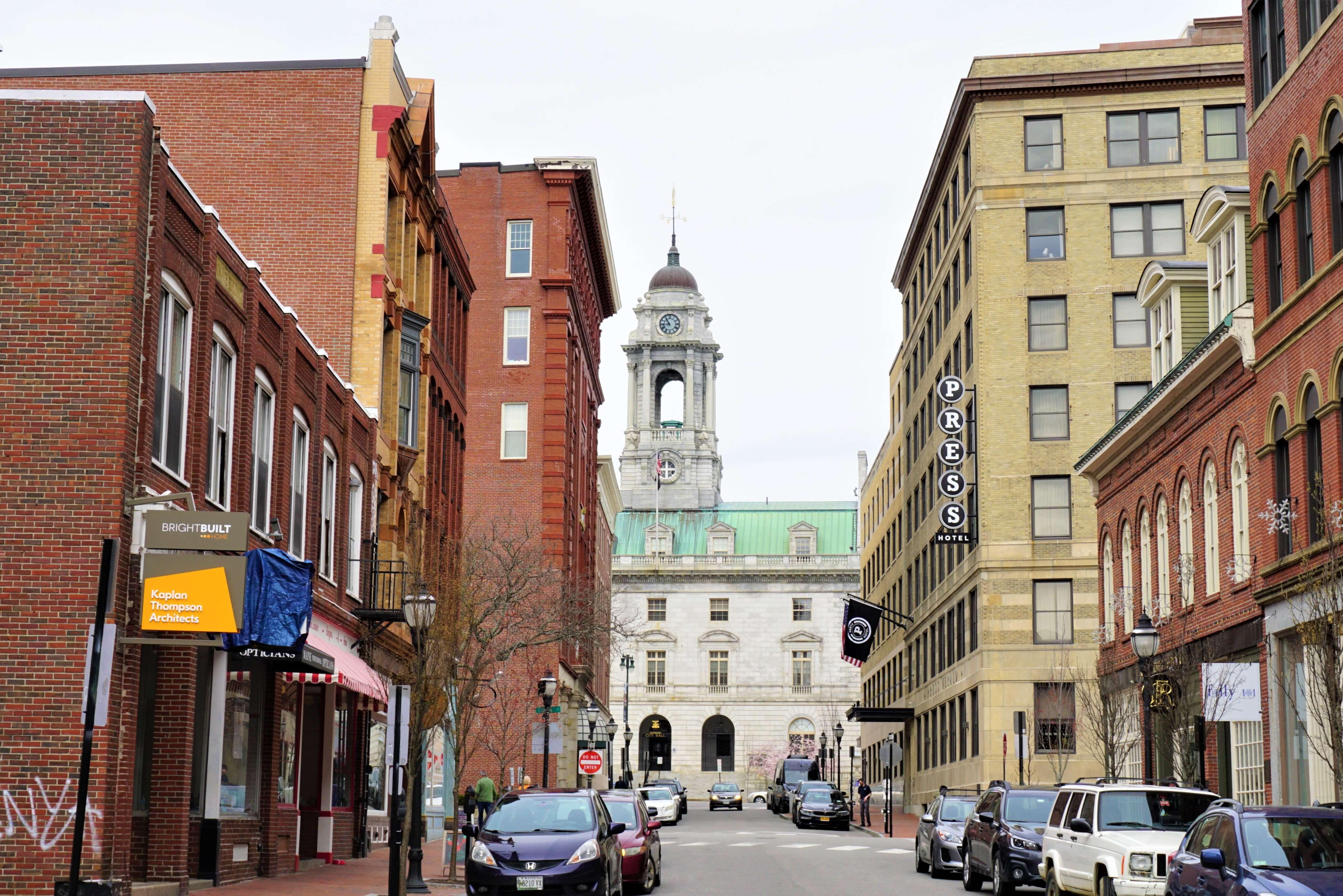 A street in Portland Maine