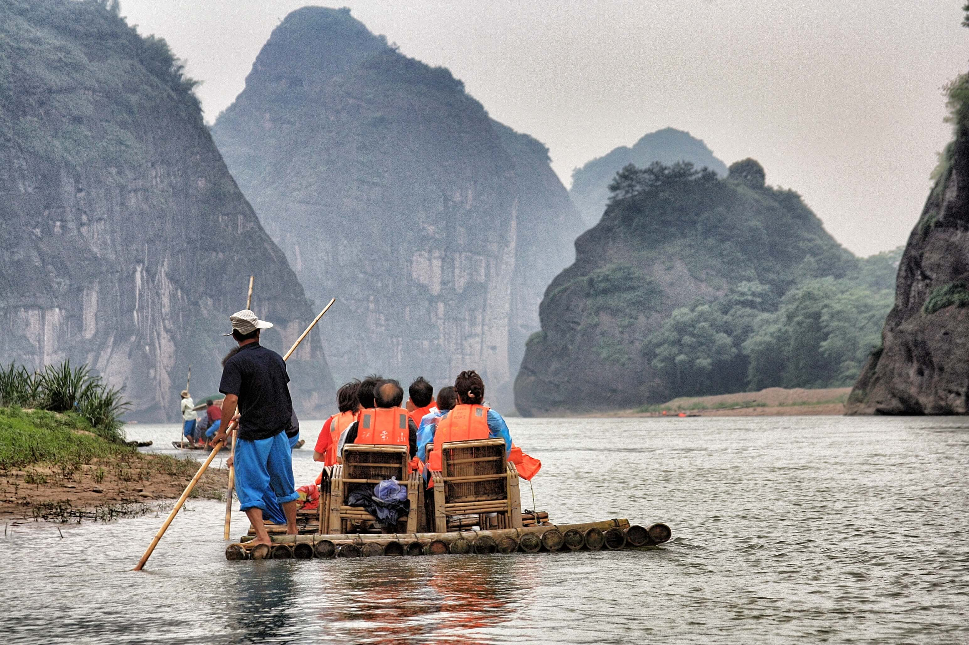 A boat ride in Vietnam