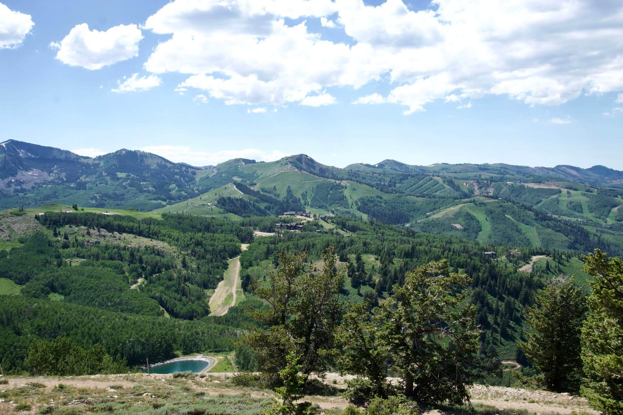 View from the top of Bald Mountain in Deer Valley