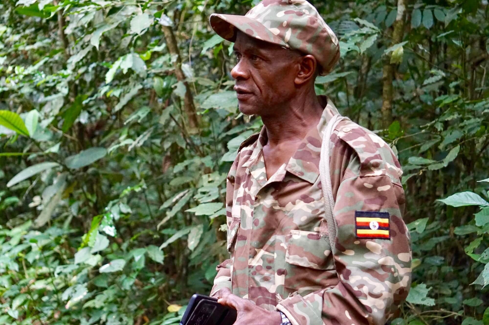 Jarrod, our chimp trek guide, in Kibale National Park