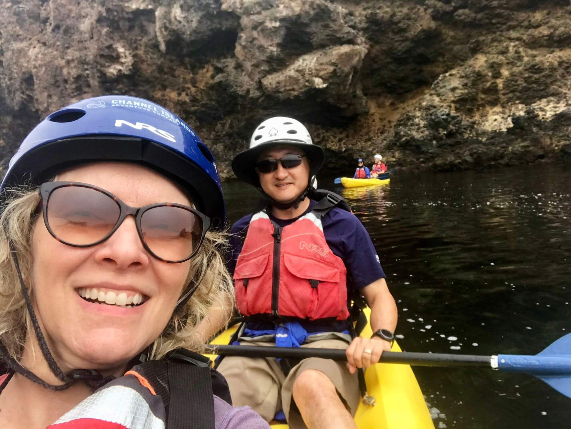 Wendy and Jason kayaking