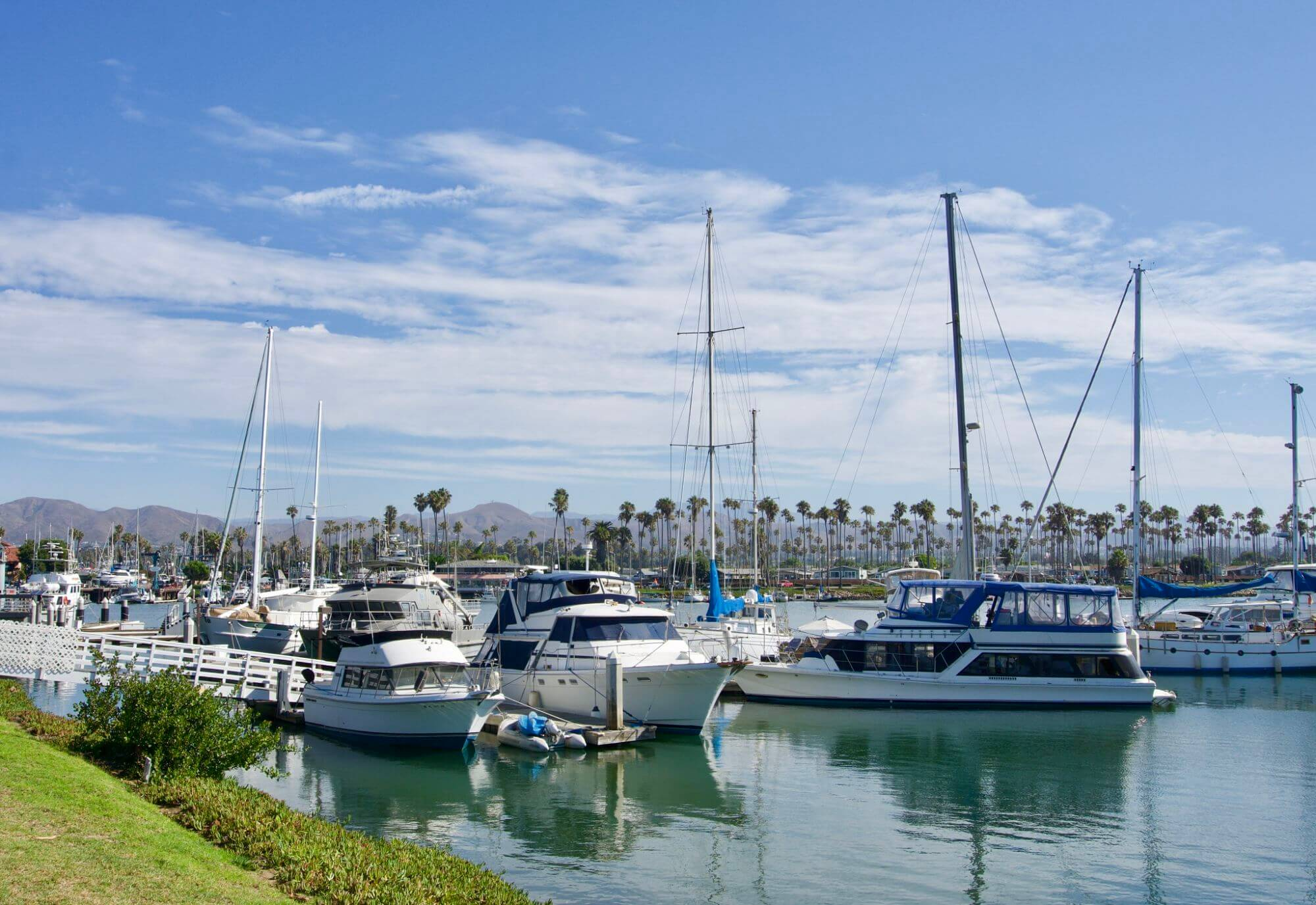 Boats in Ventura Harbor, California